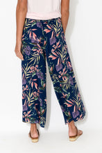 Navy Tropical Wrap Pant