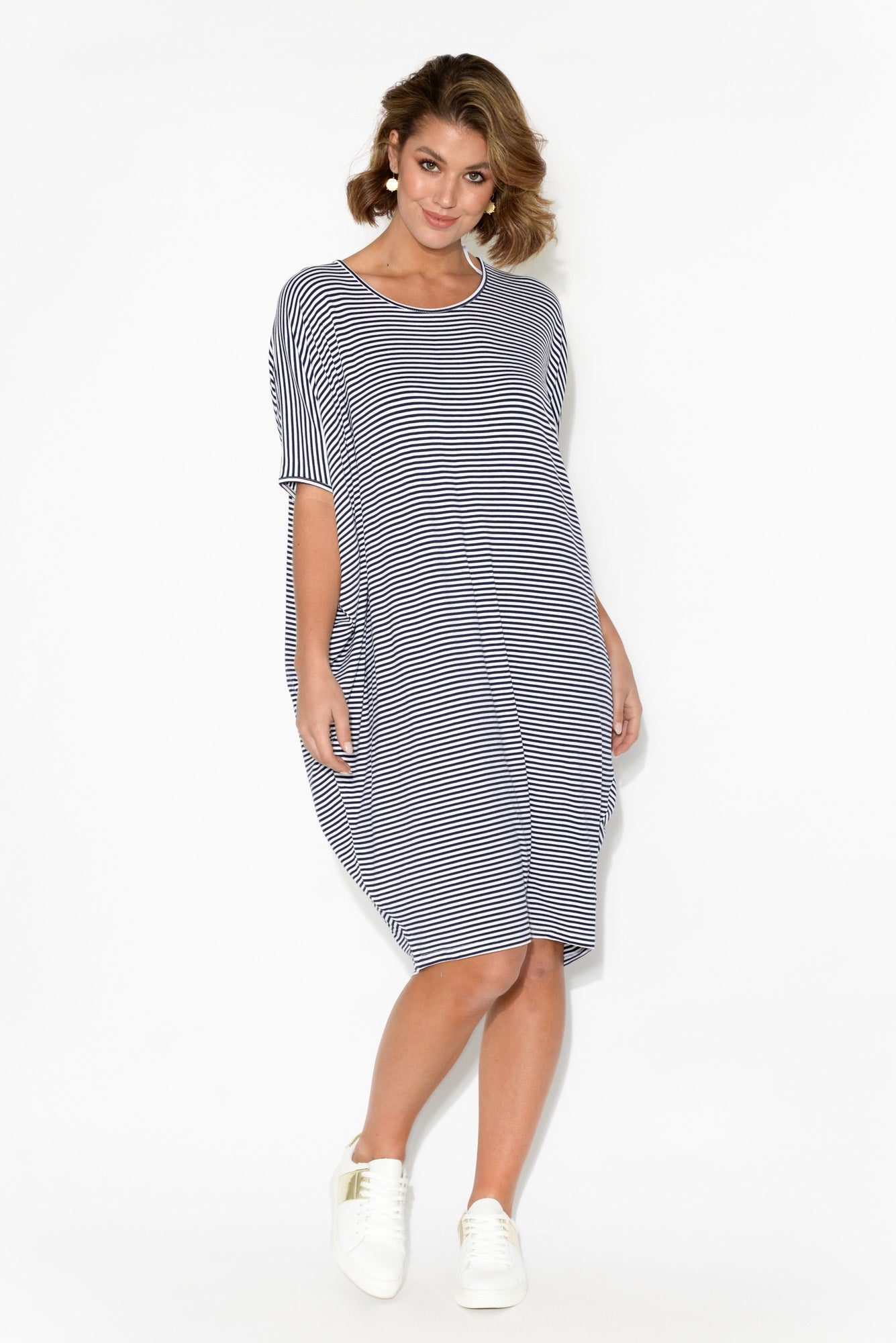 Navy and White Stripe Maui Dress