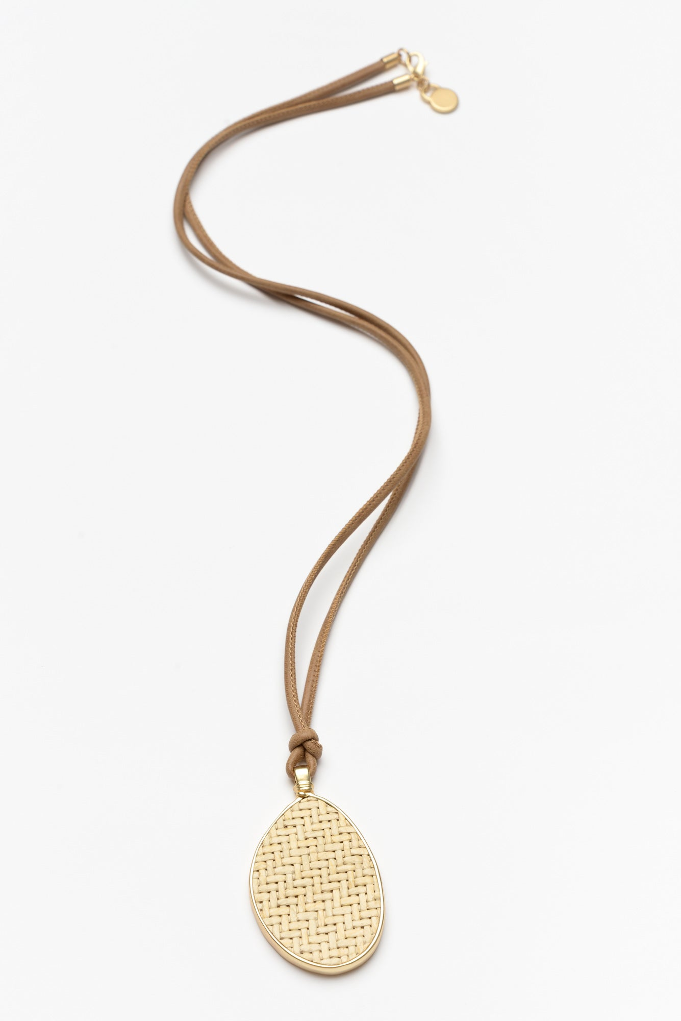 Nevis Natural Woven Necklace