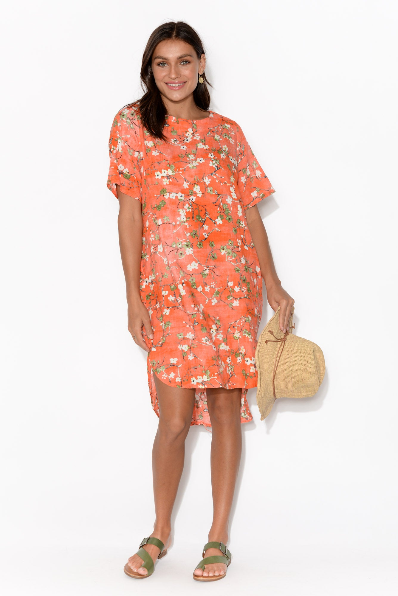 Niki Orange Blossom Shift Dress