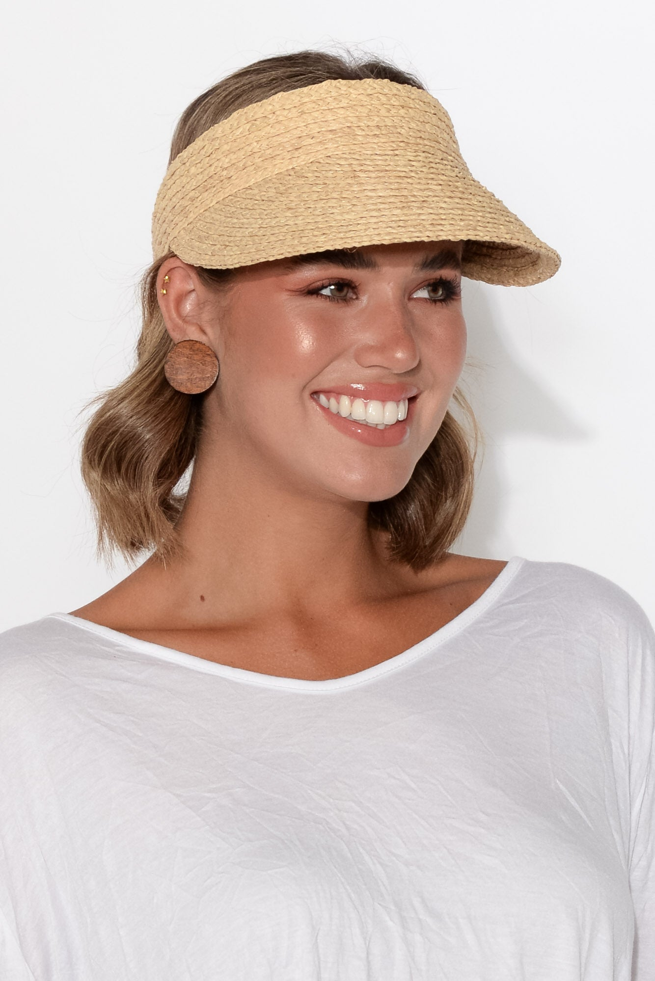 Noosa Natural Raffia Travel Visor