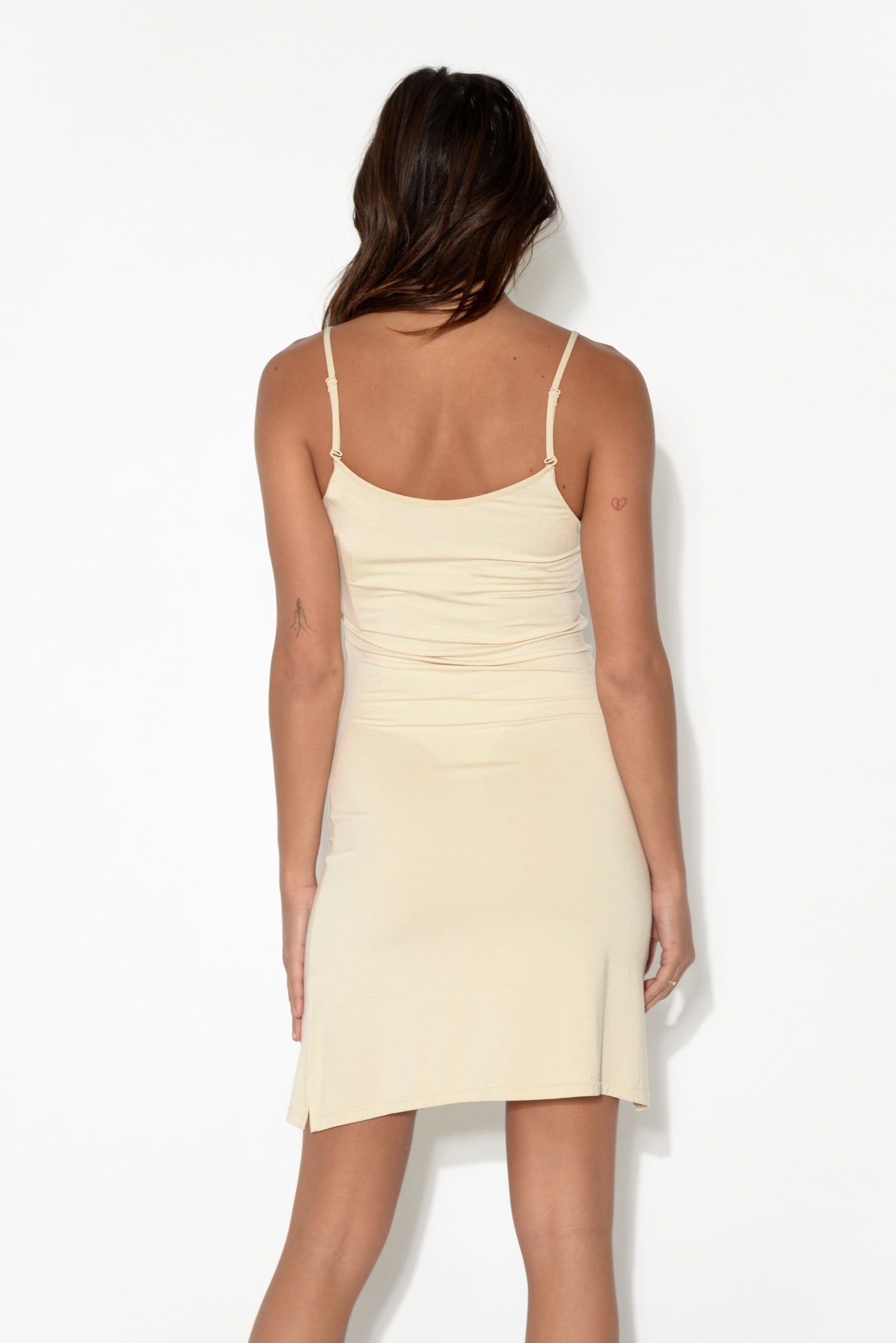 Nude Modal Slip Dress