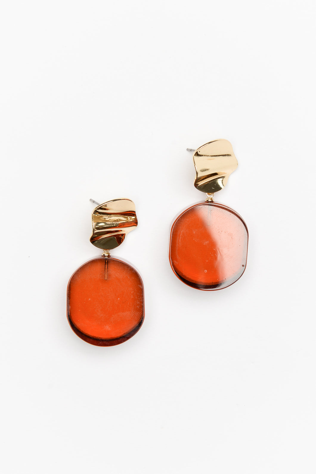 Orange Chloe Resin Drop Earring