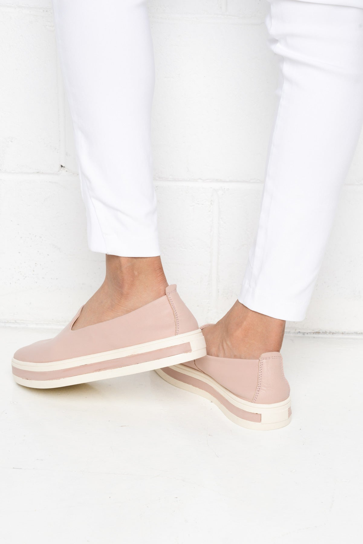 Paris Blush Platform Leather Shoe - Blue Bungalow