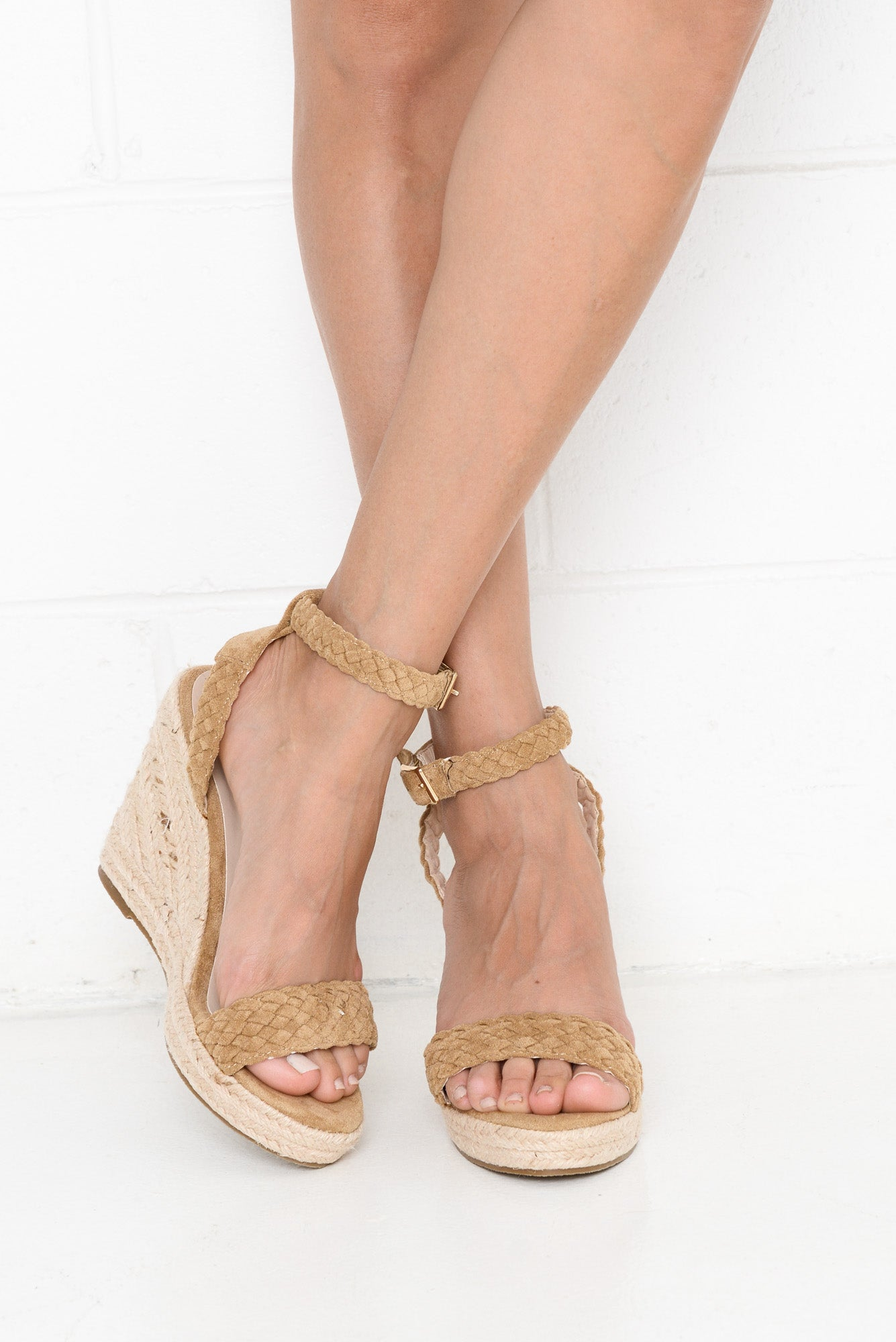 Pepper Beige Wedge Heel