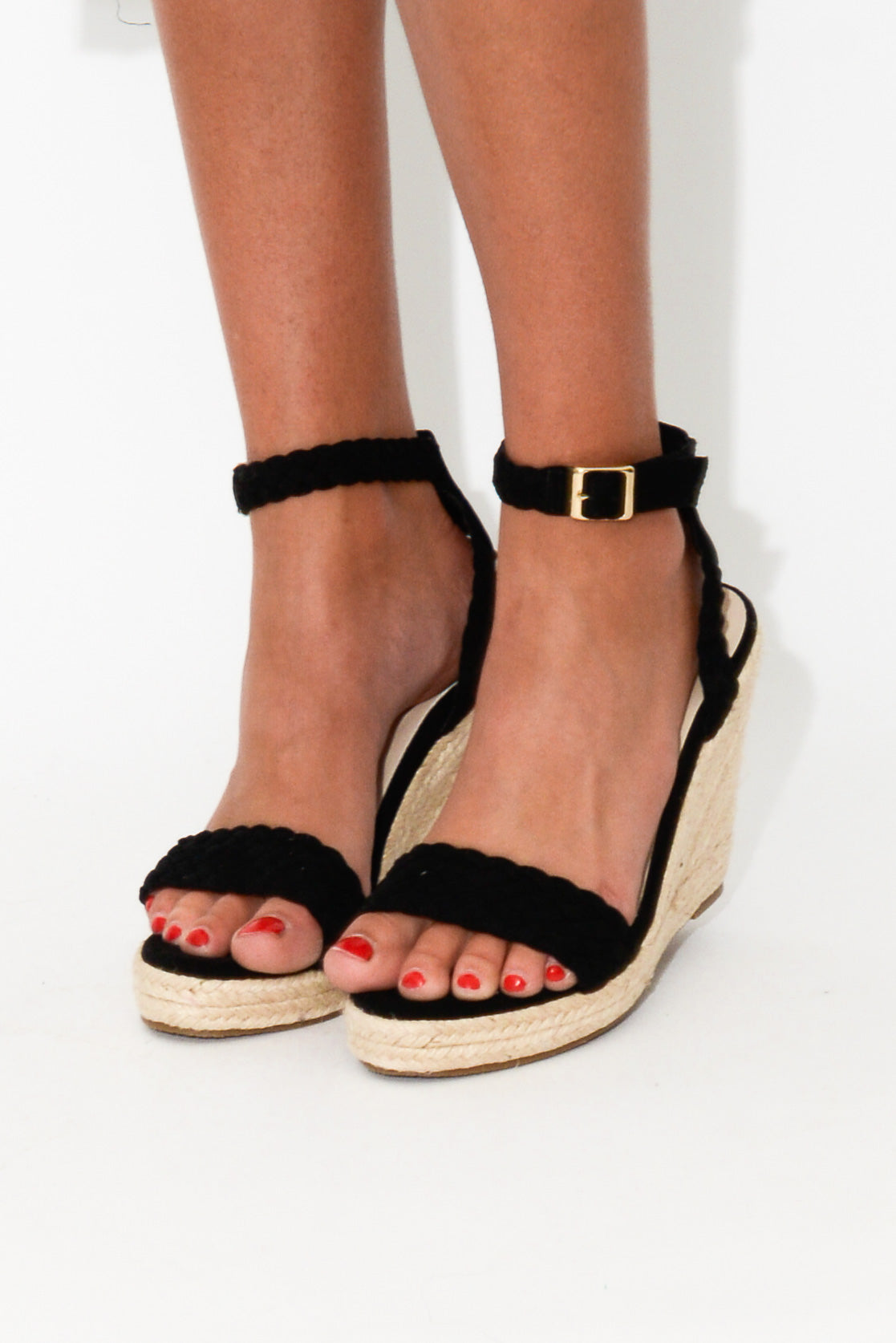Pepper Black Wedge Heel - Blue Bungalow