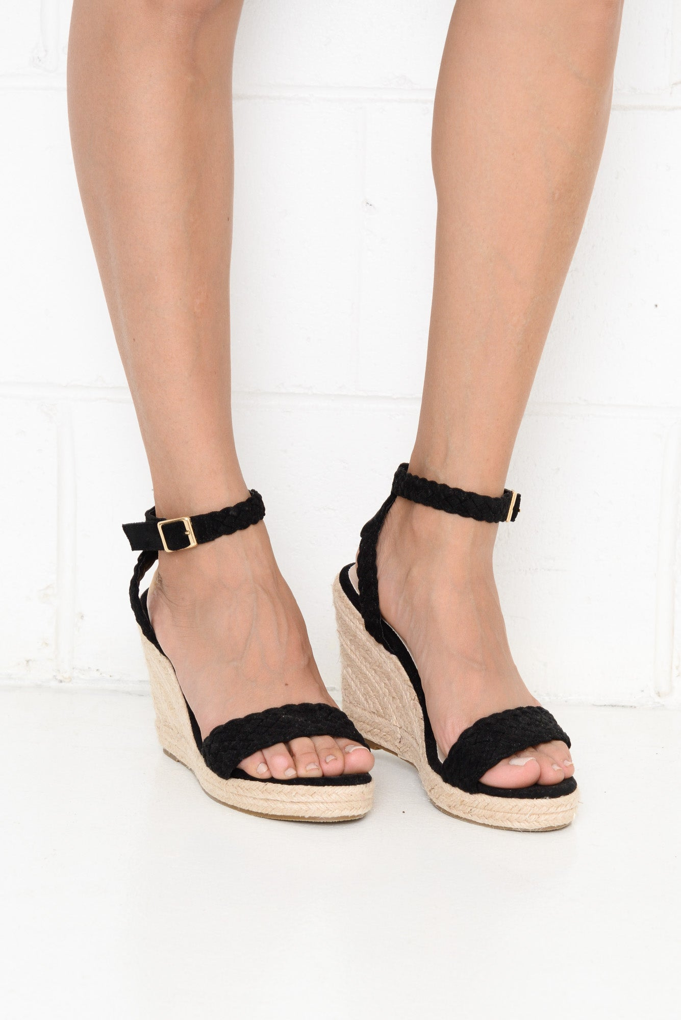 Pepper Black Wedge Heel