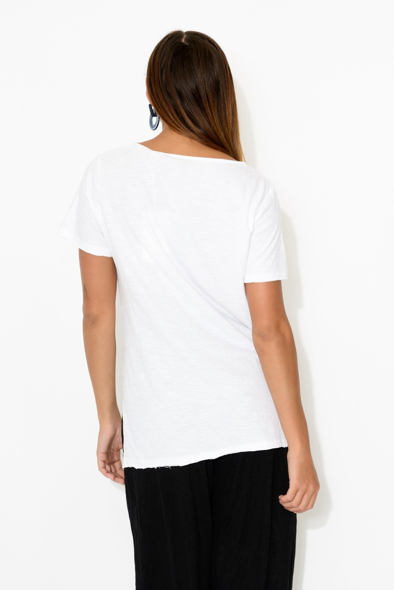 Petunia White Cotton Tee