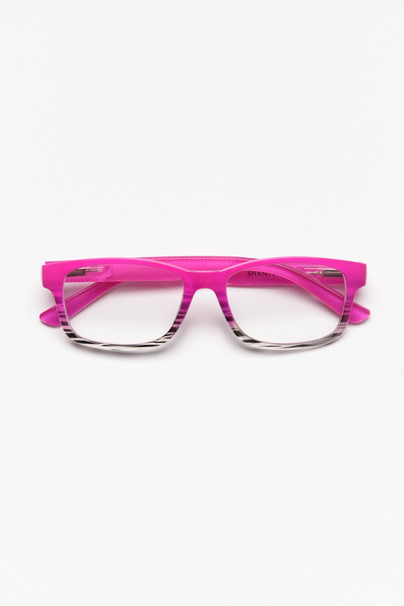 Pink Abstract Reading Glasses