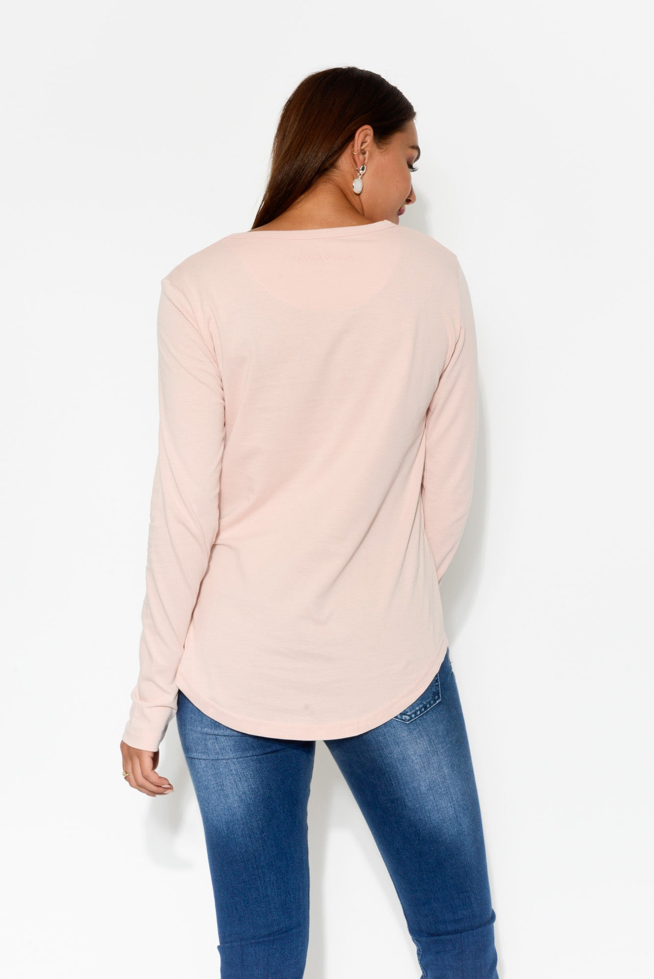 Pink Lovely Cotton Sleeved Tee - Blue Bungalow
