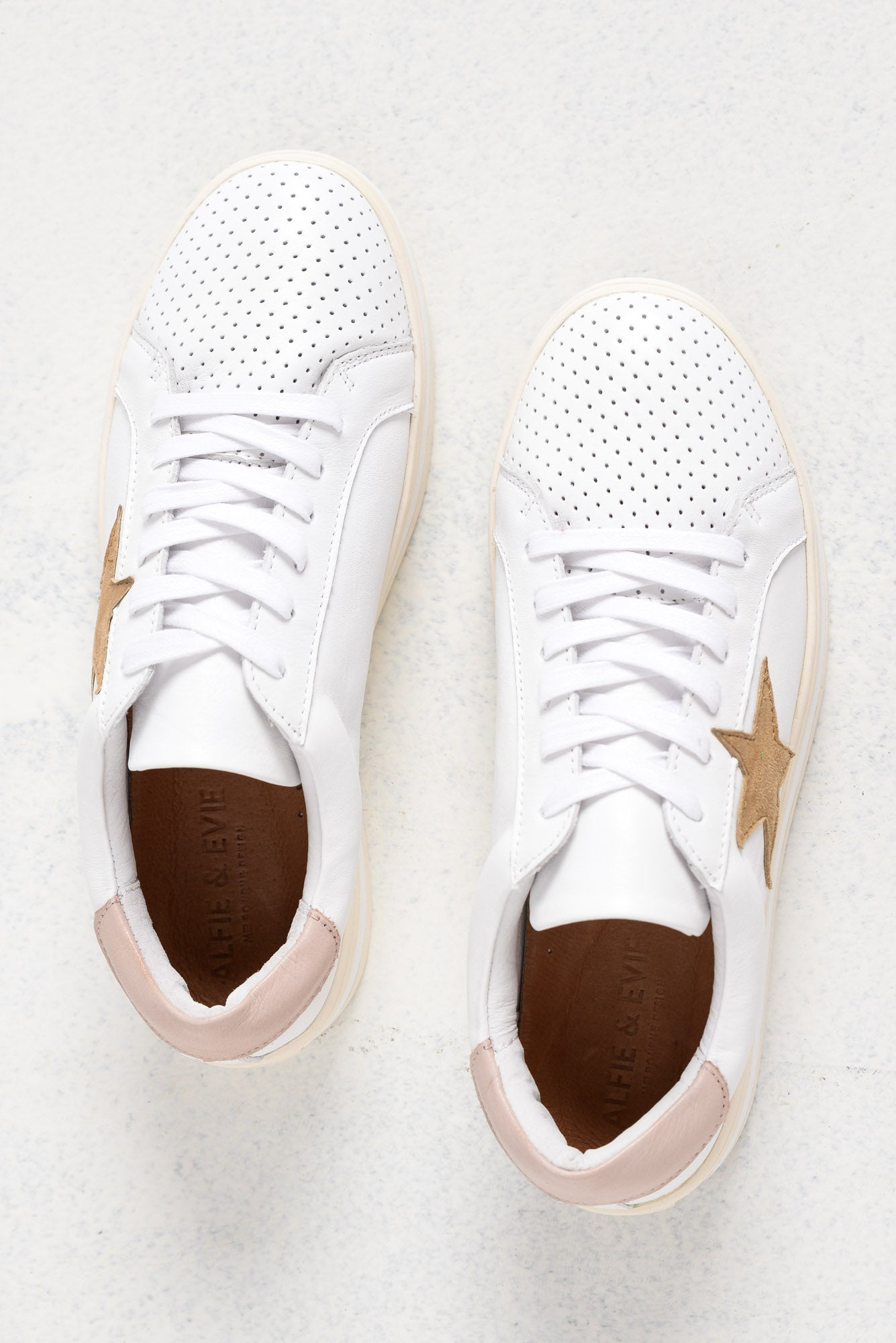 Pixie Star White Blush Leather Sneaker