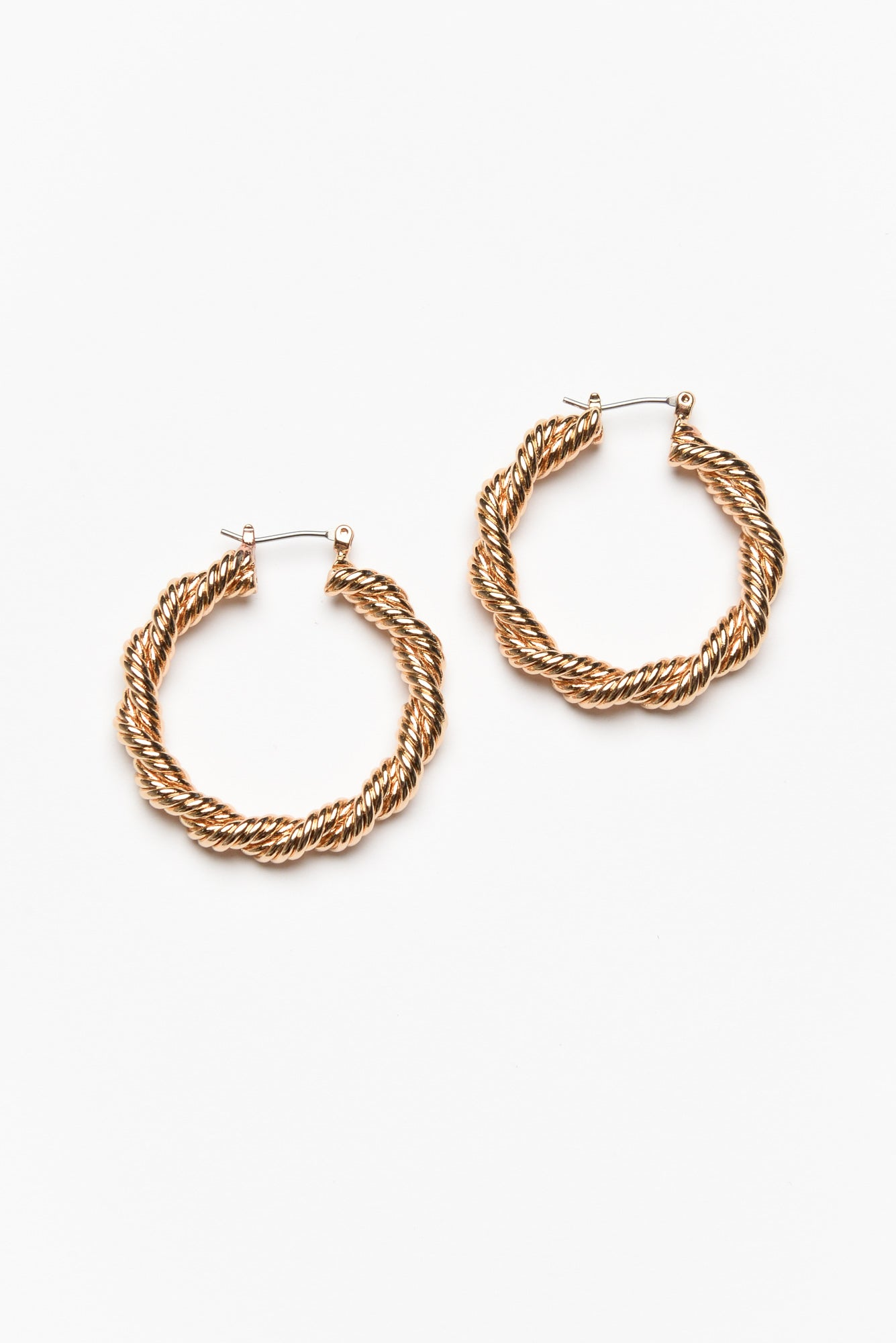 Porto Gold Double Twist Hoop Earring