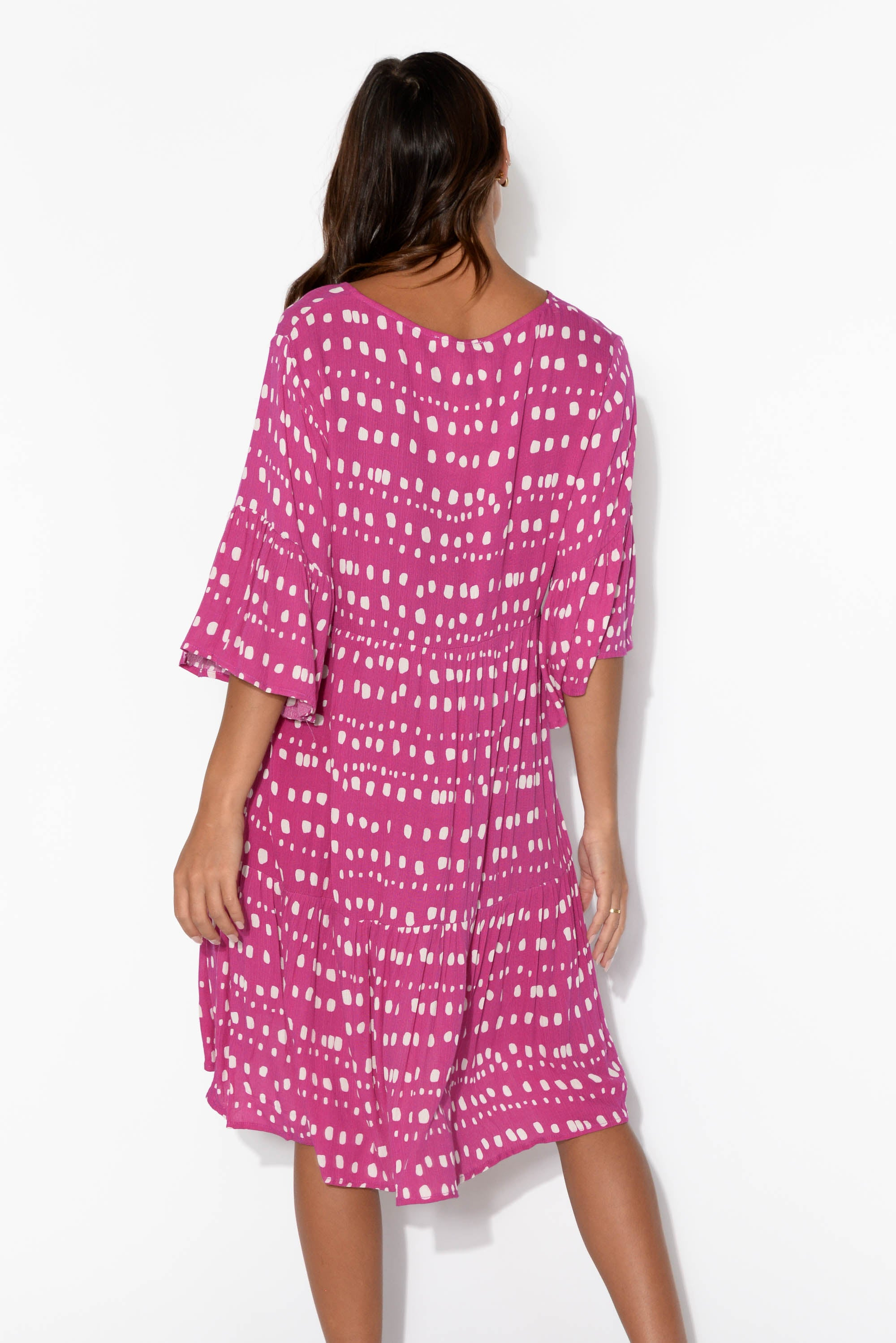 Prescott Pink Abstract Check Dress