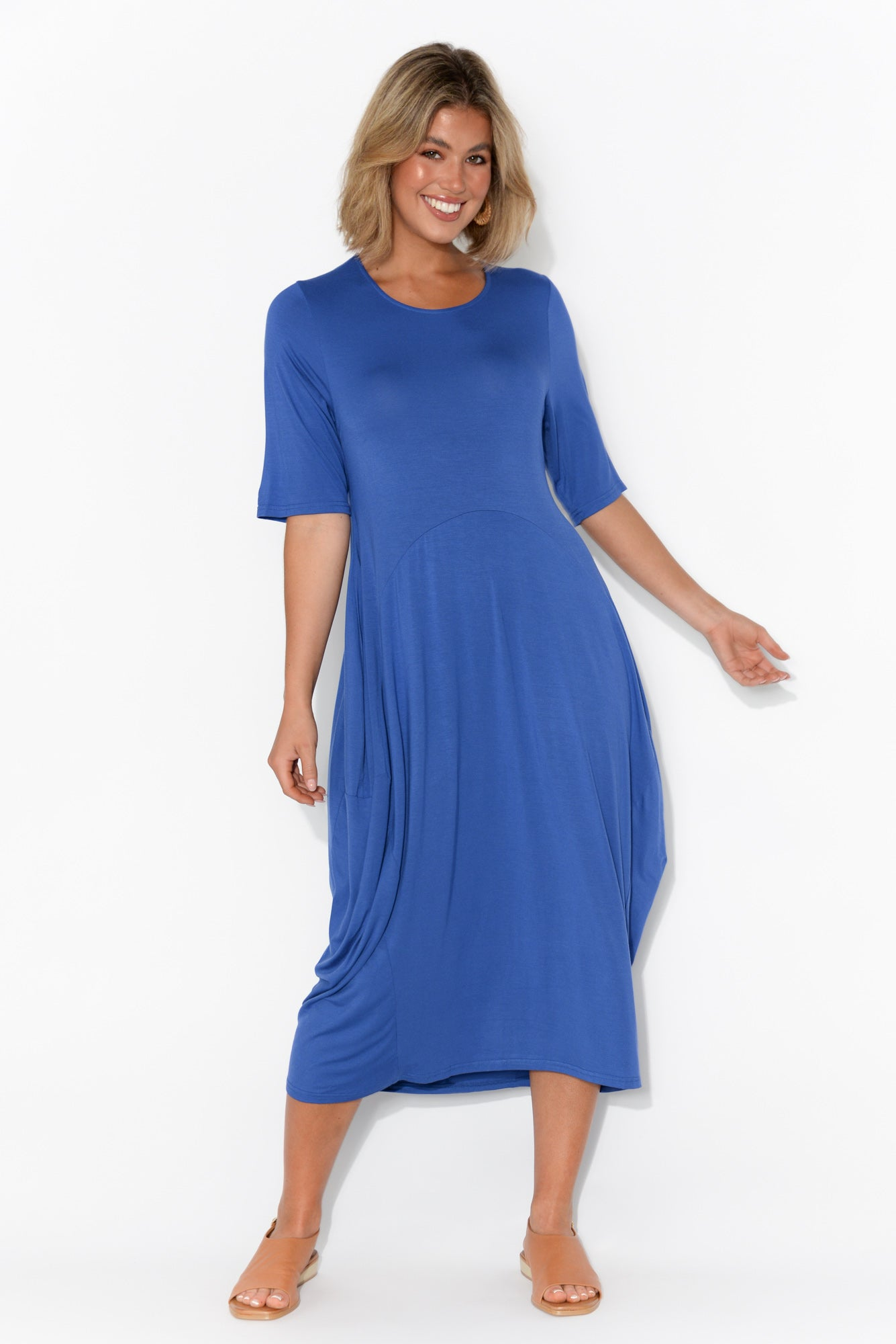 Rachel Cobalt Bamboo Dress