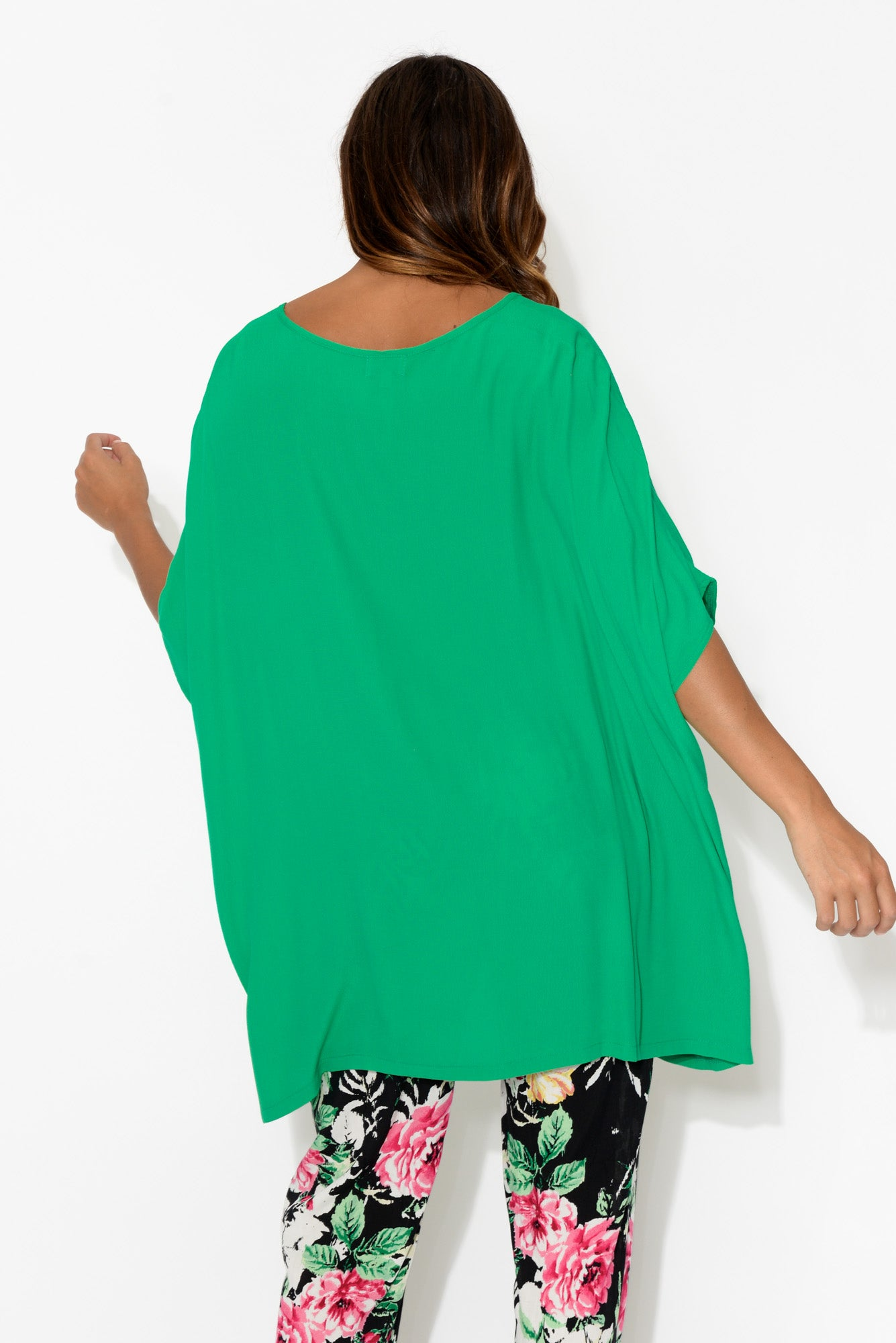 Raffi Green Drape Top