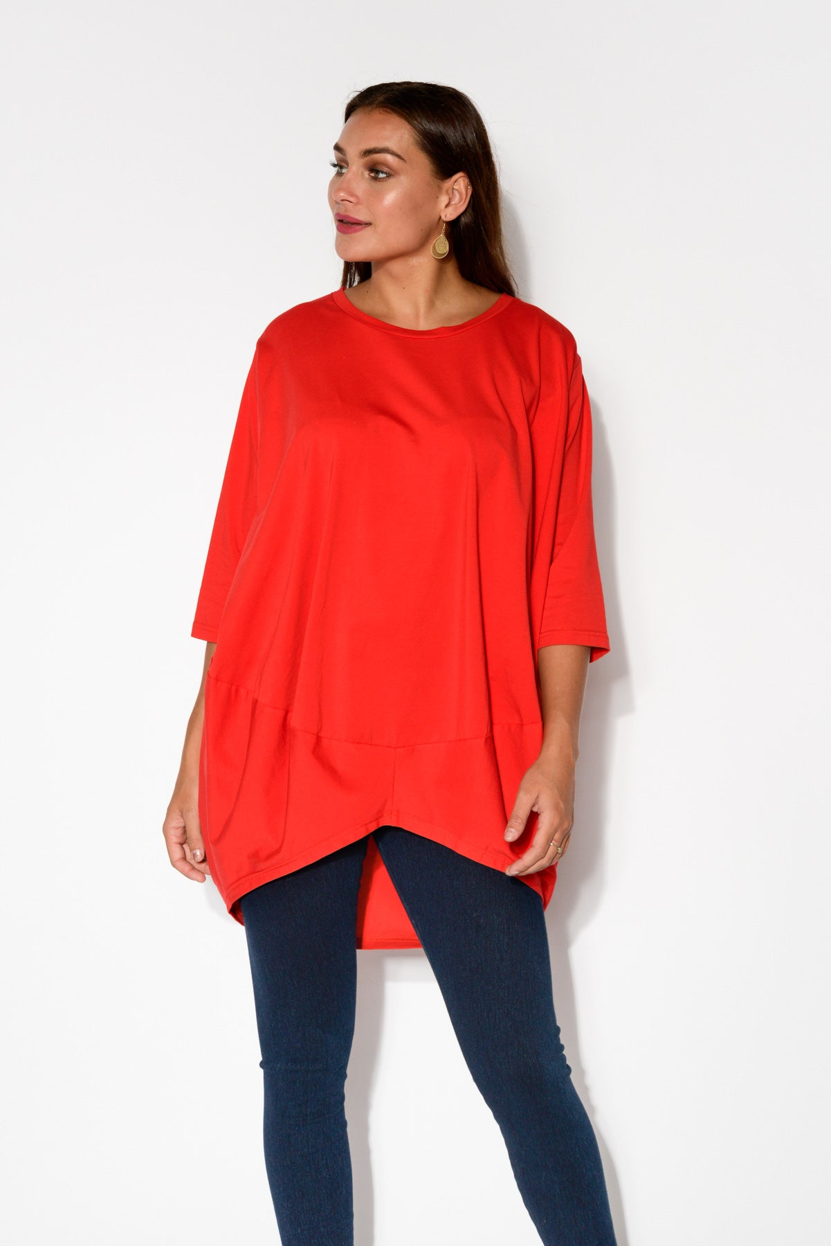 Red Billow Cotton Top - Blue Bungalow