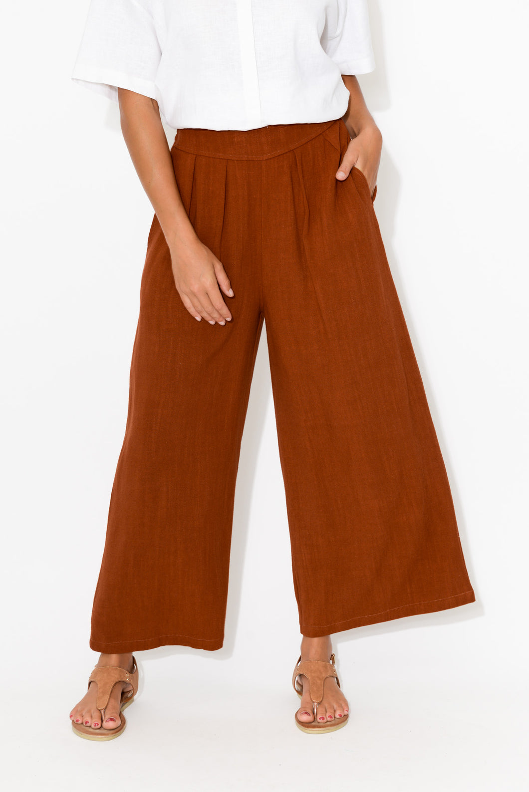Resort Rust Wide Leg Pant