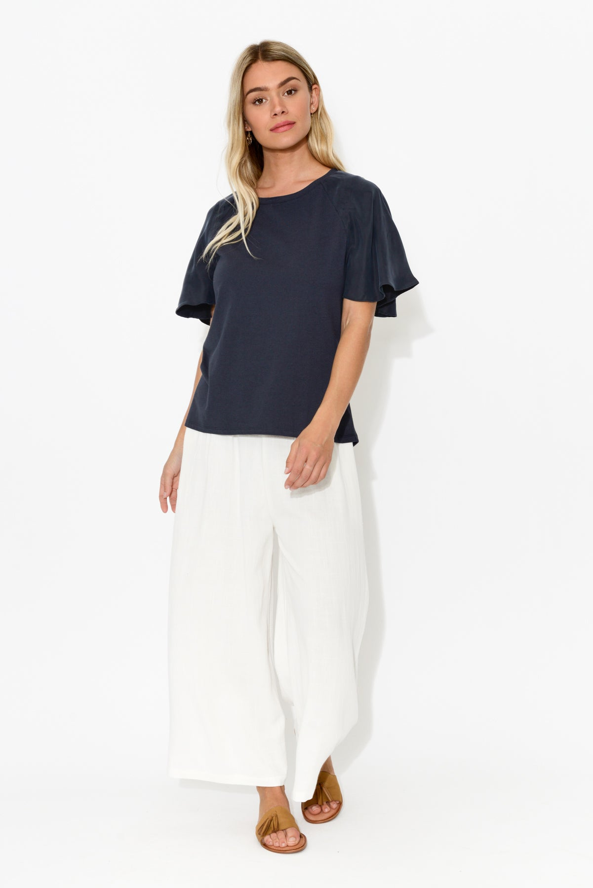 Resort White Wide Leg Pant