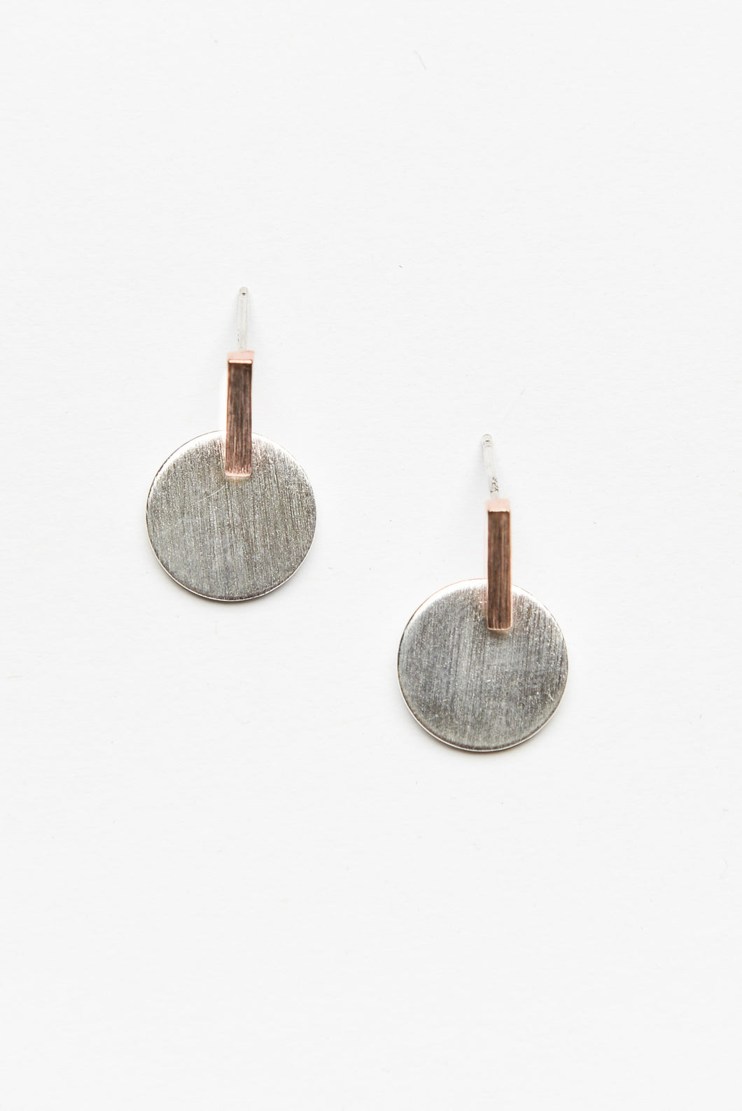 Rose Gold and Silver Bar Earring - Blue Bungalow