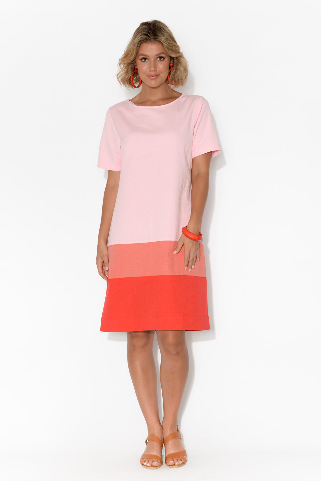 Rosie Pink Colour Block Dress