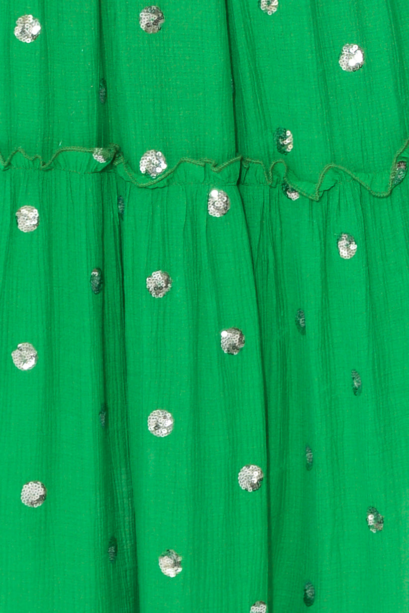 Rotta Green Sequin Dress