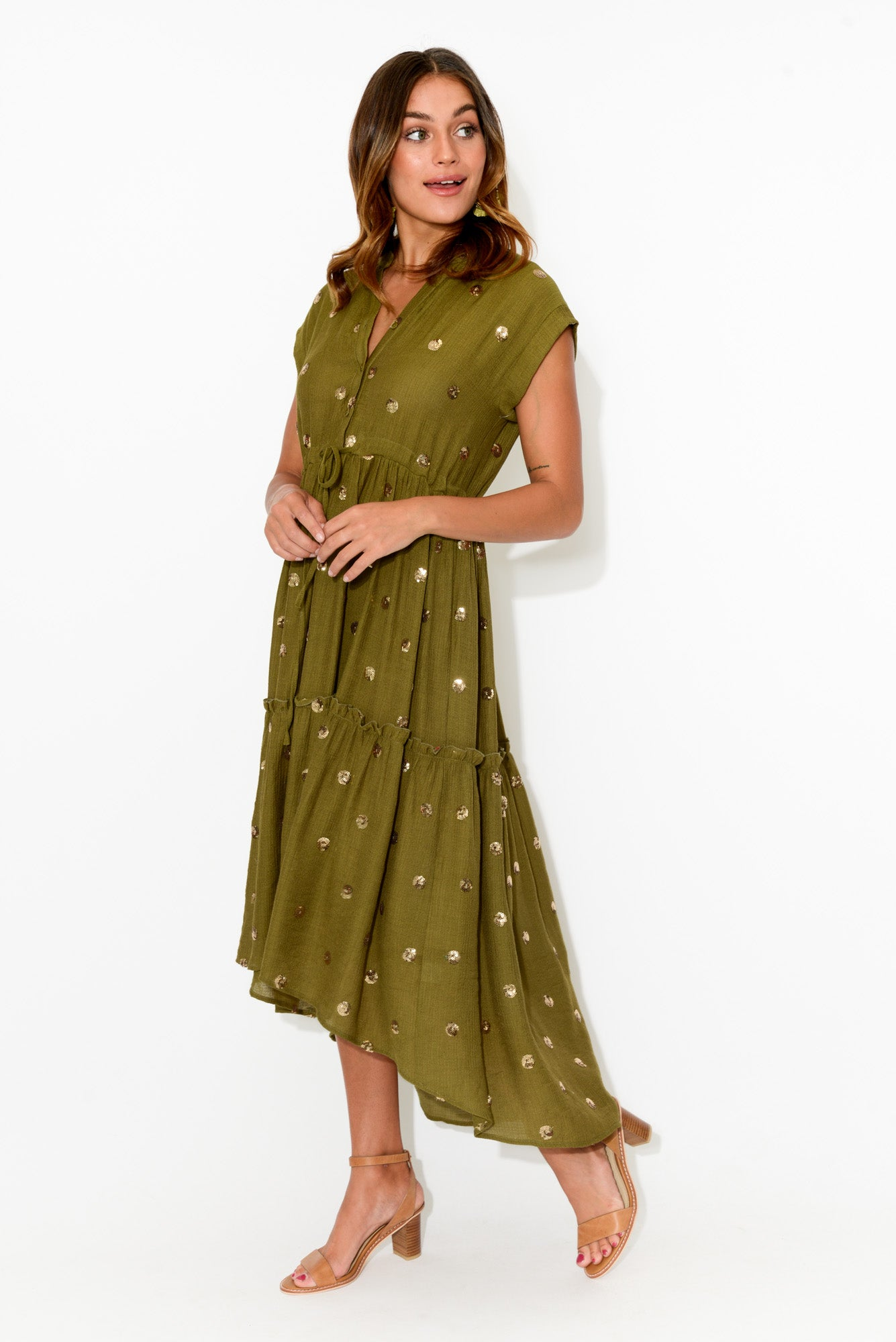 Rotta Khaki Sequin Dress