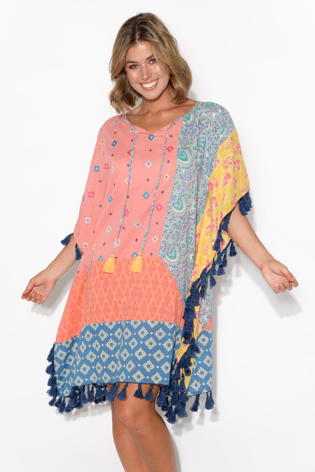 Ruby Pattern Patchwork Kaftan