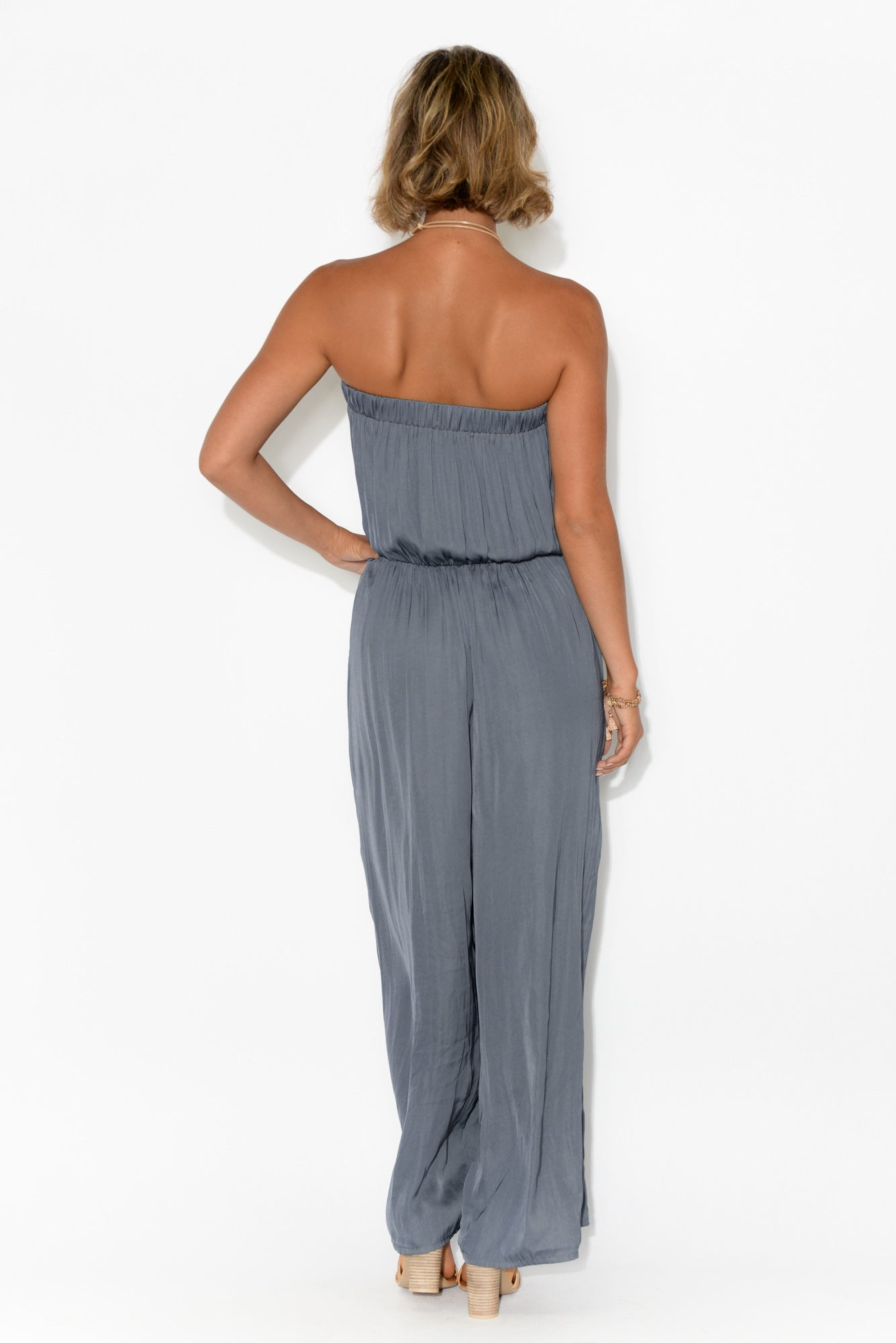 Runway Navy Wide Leg Jumpsuit