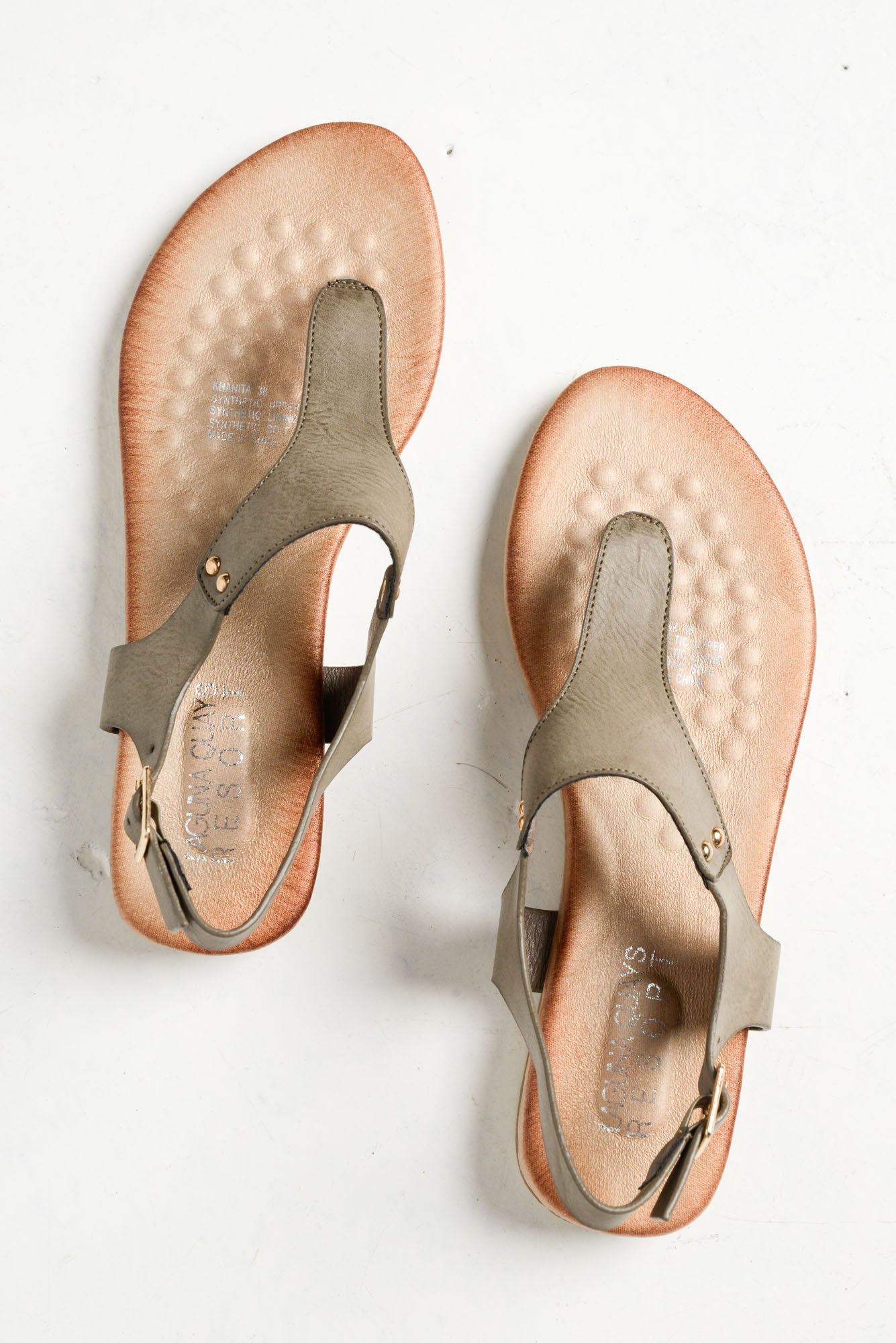Khanita Taupe Sandals - Blue Bungalow