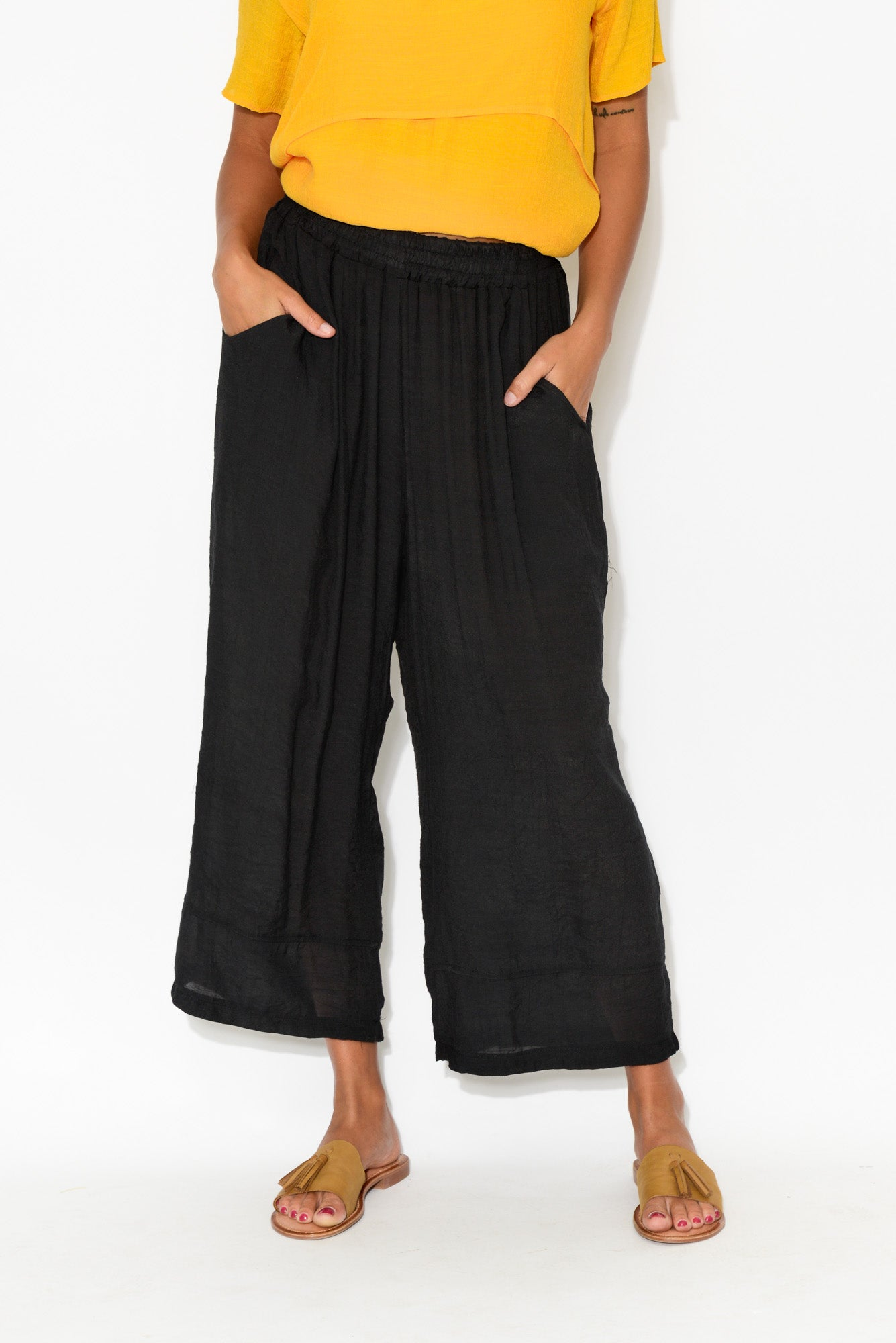 Sadie Black Wide Leg Pant
