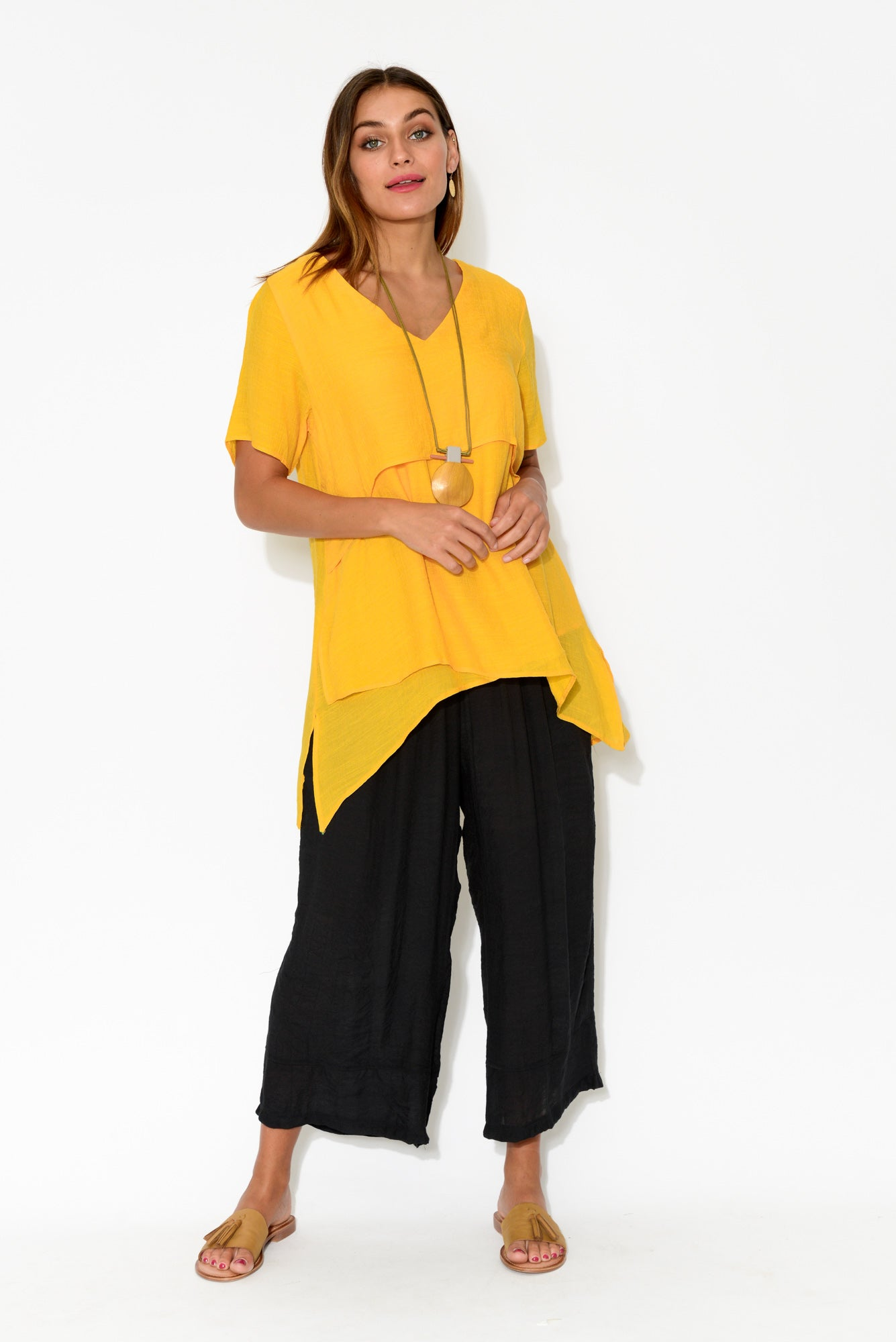 Yellow Layered Tunic Top