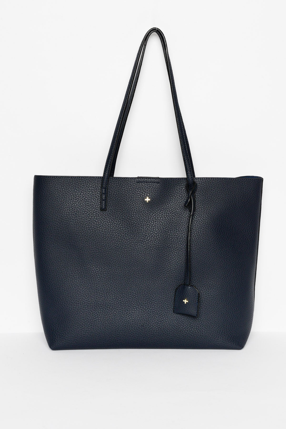 Saint Navy Vegan Leather Tote - Blue Bungalow