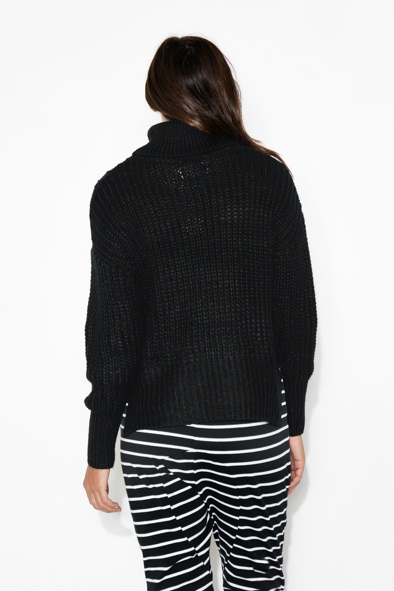 Samara Black Turtleneck Jumper