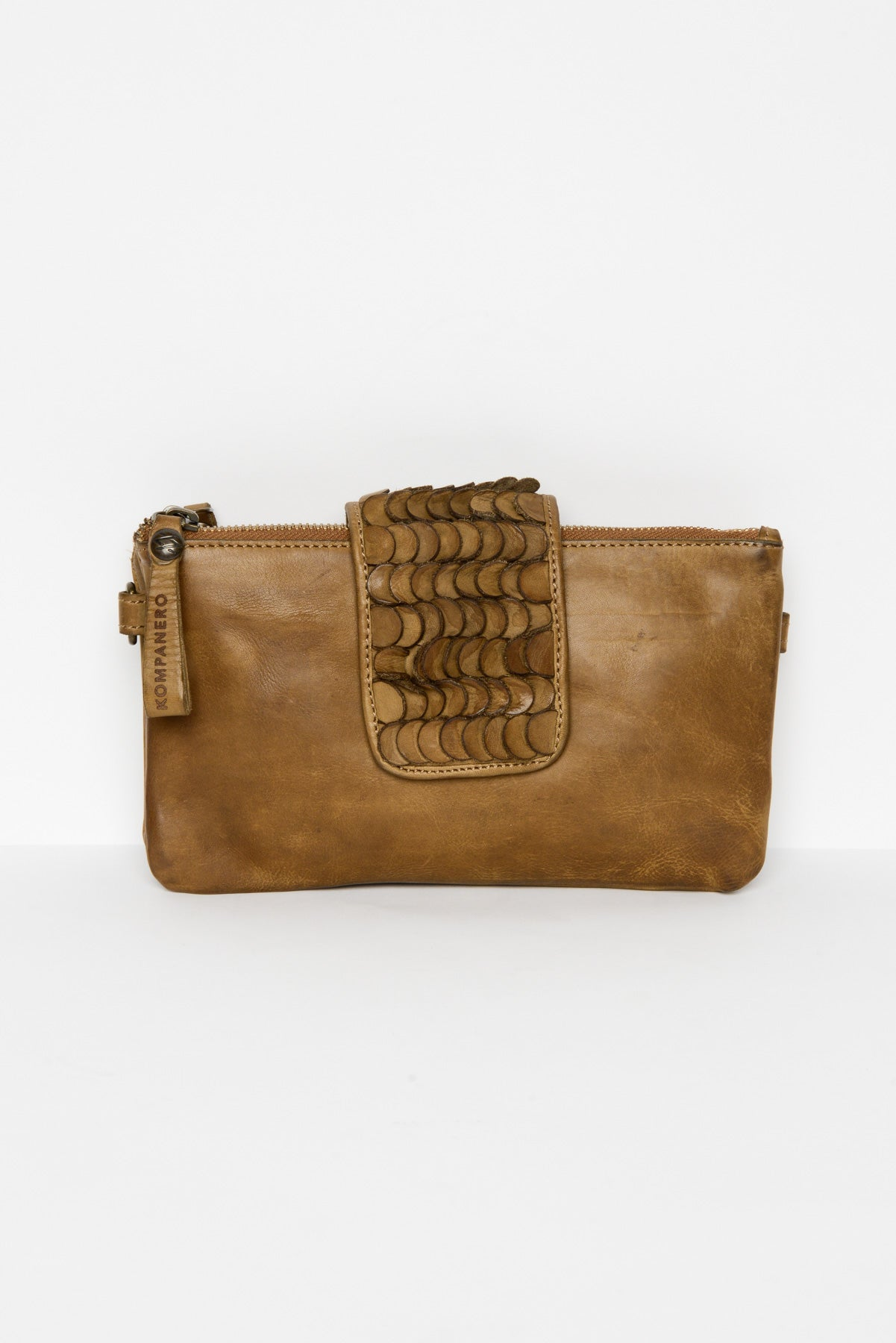 Sarah Tobacco Leather Clutch - Blue Bungalow