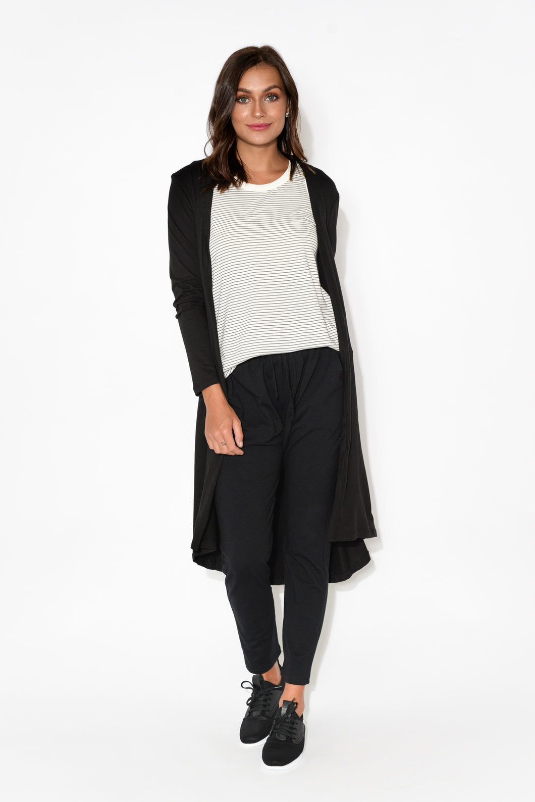 Scarlett Black Cotton Cardigan