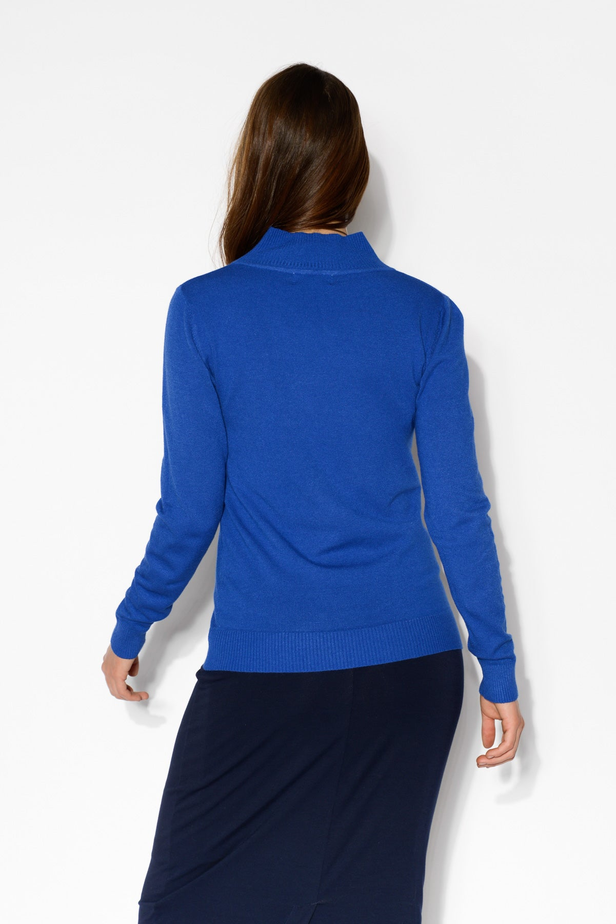 Sharni Cobalt Blue Knit Top - Blue Bungalow