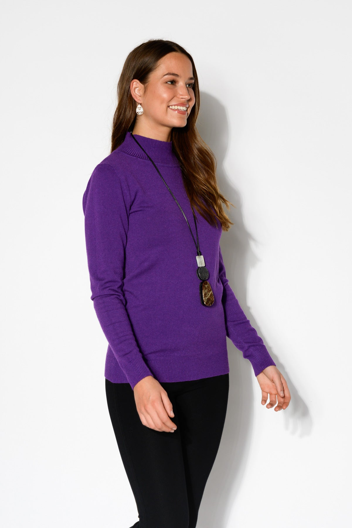 Sharni Purple Knit Top - Blue Bungalow