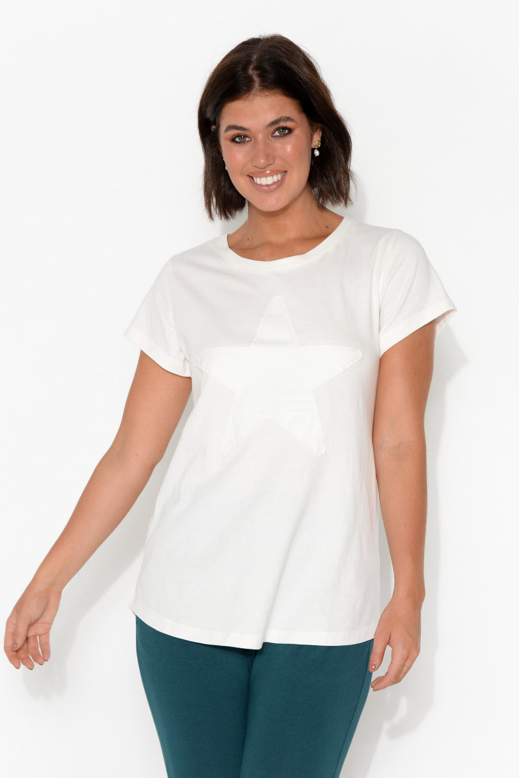 Shine Bright White Star Tee