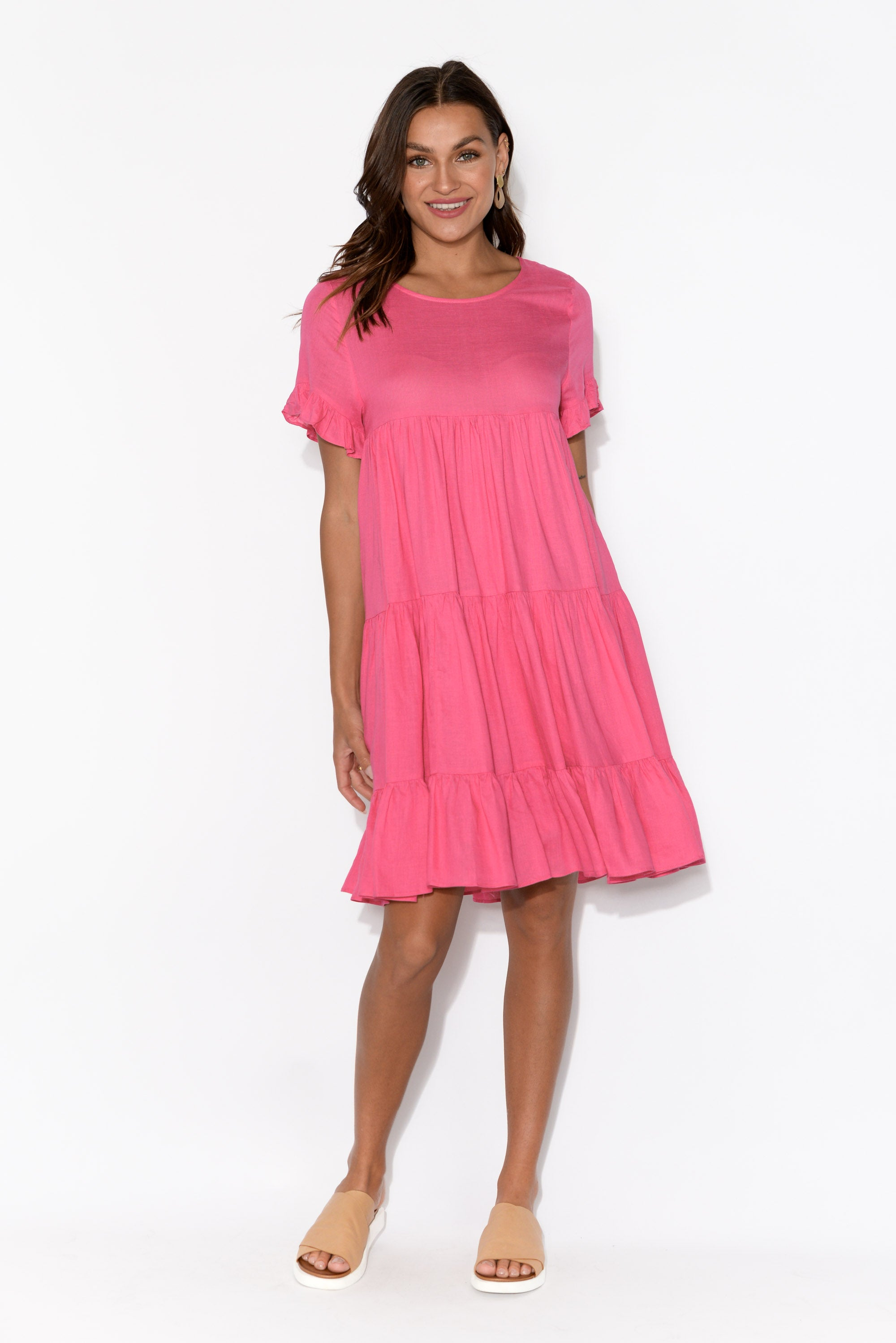 Sia Pink Tiered Dress