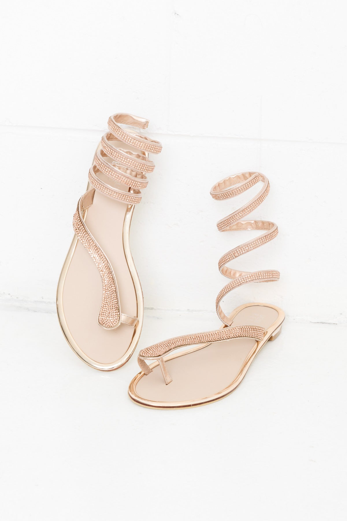 Snazzy Rose Gold Sandal