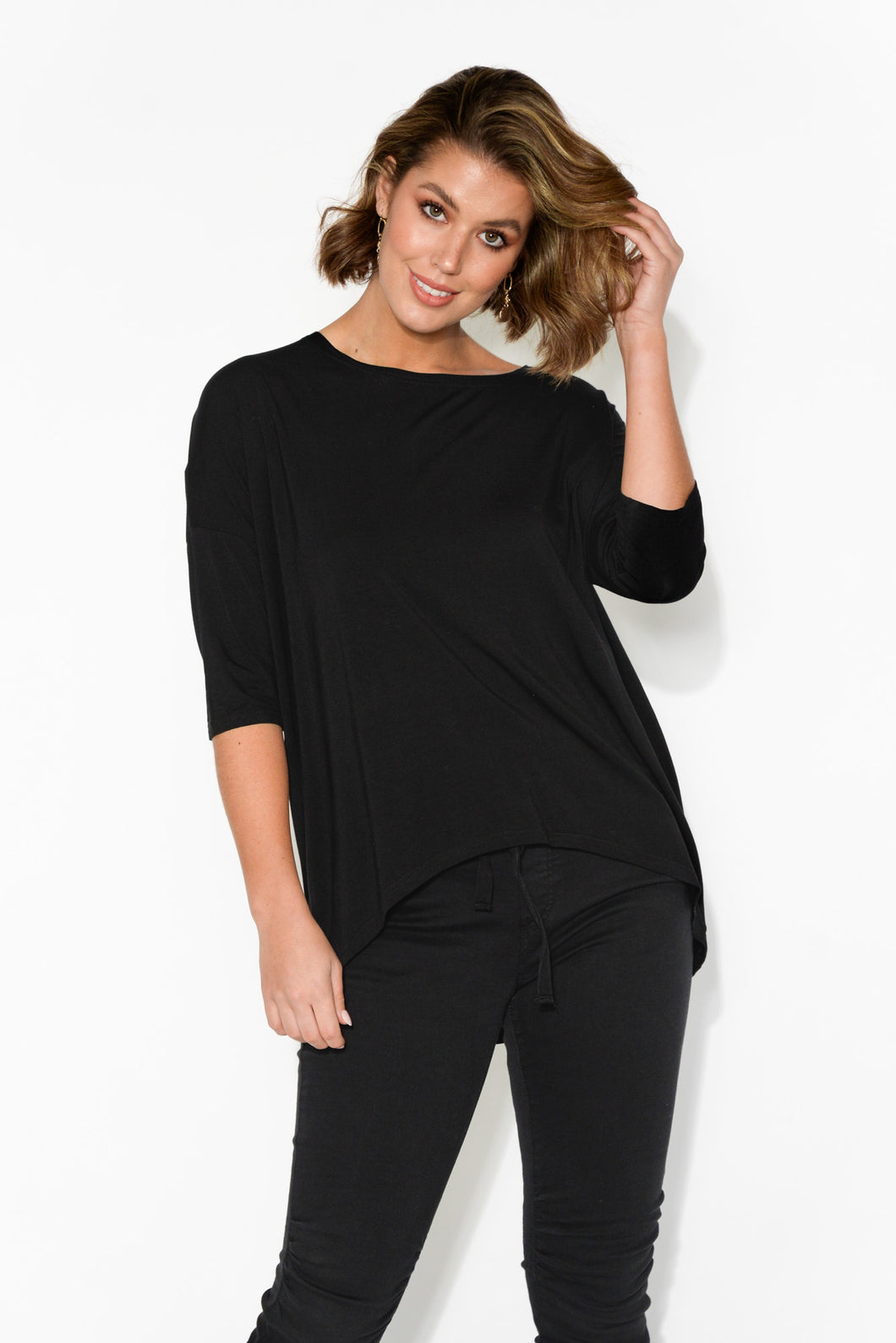Spencer Black Bamboo Top