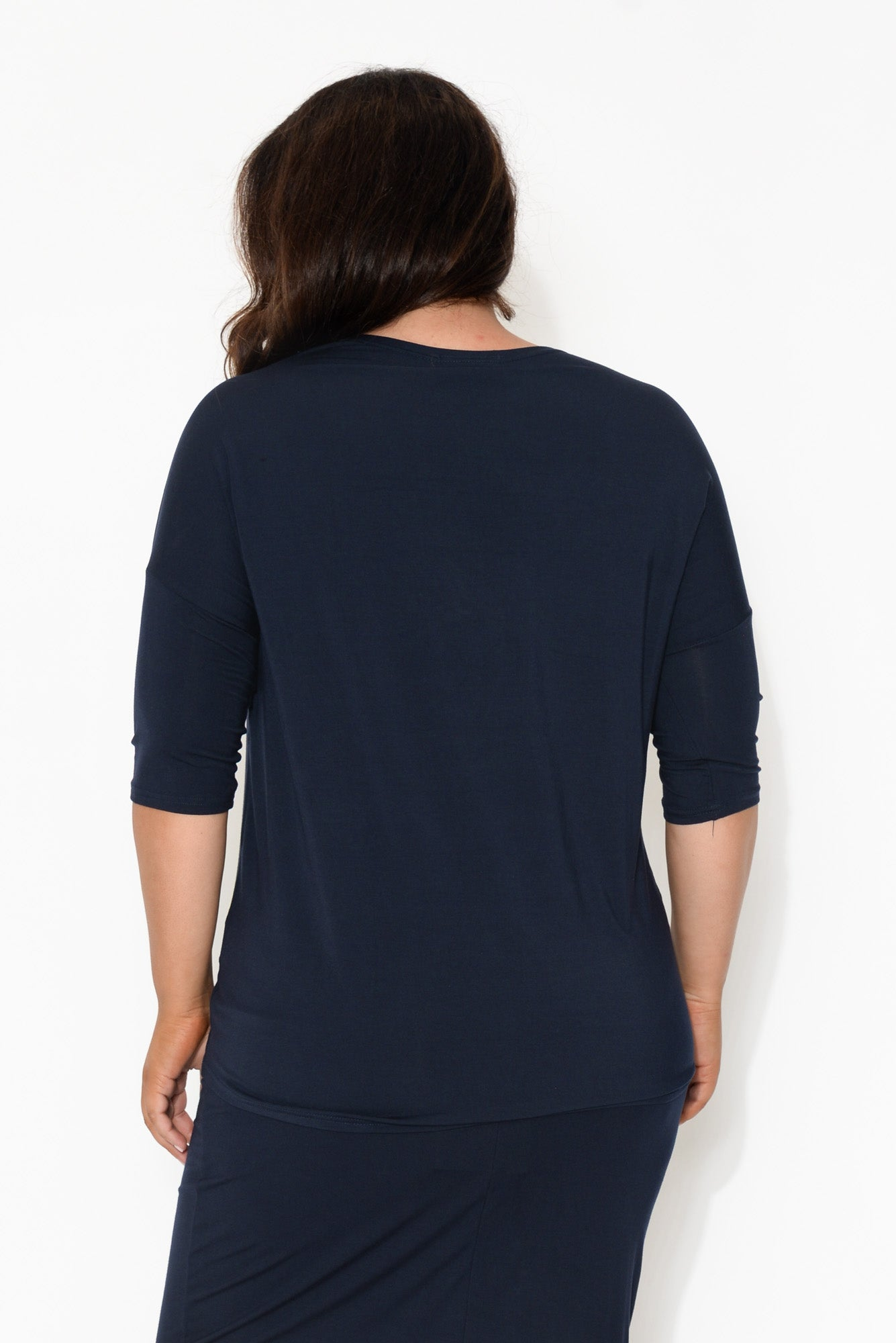 Spencer Navy Bamboo Top