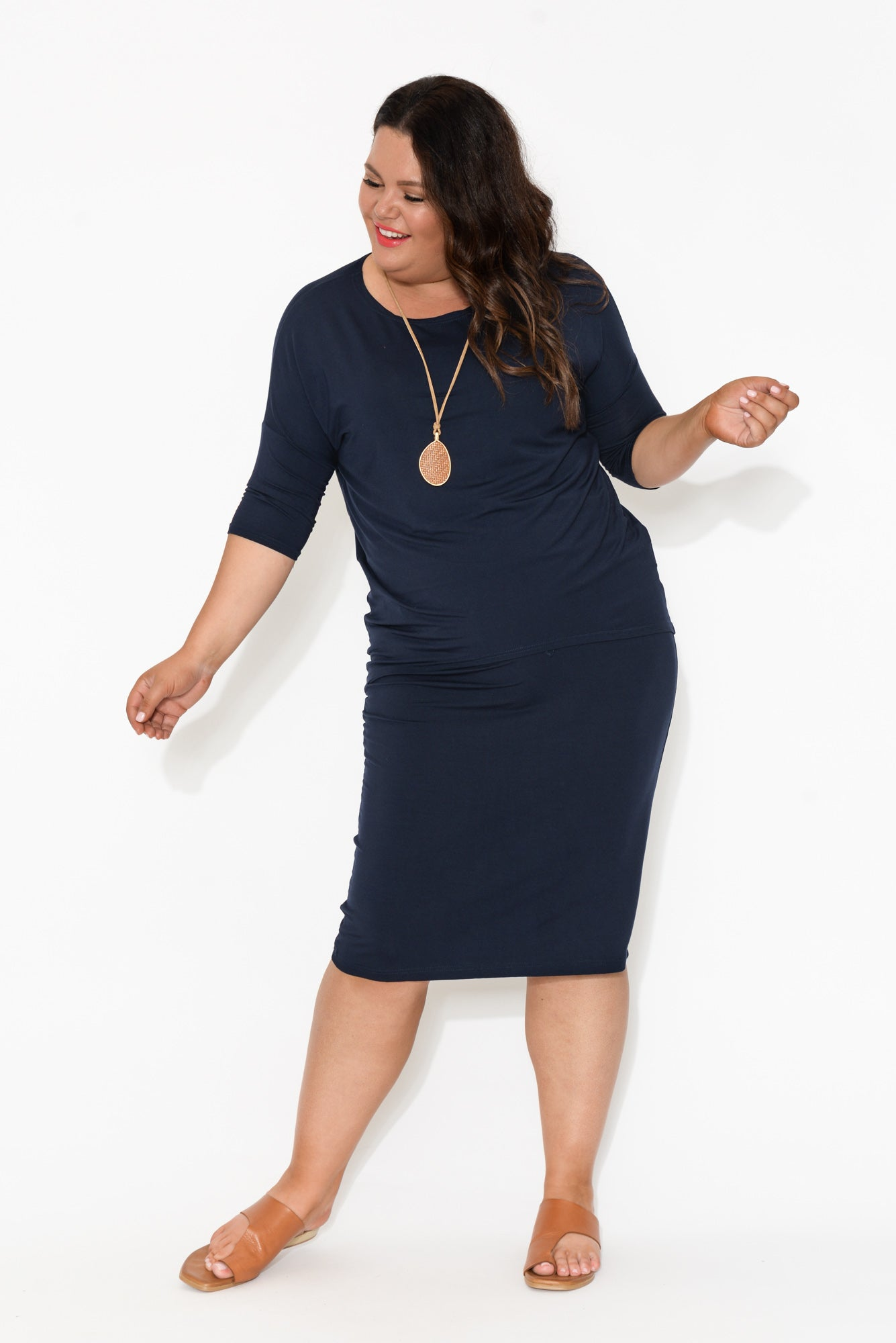 Noel Navy Bamboo Skirt