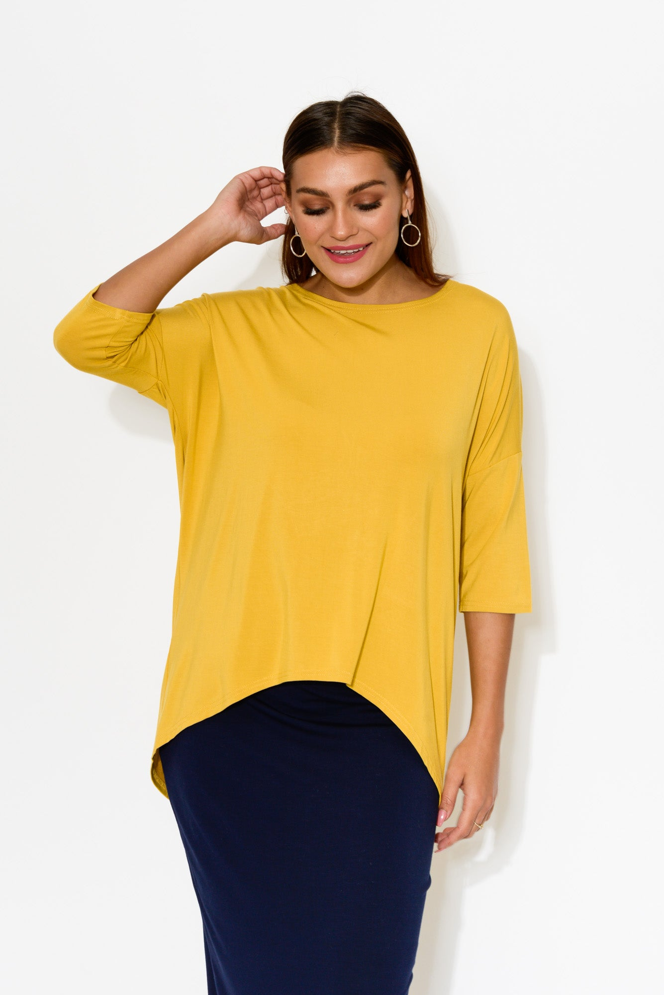 Spencer Yellow Bamboo Top - Blue Bungalow