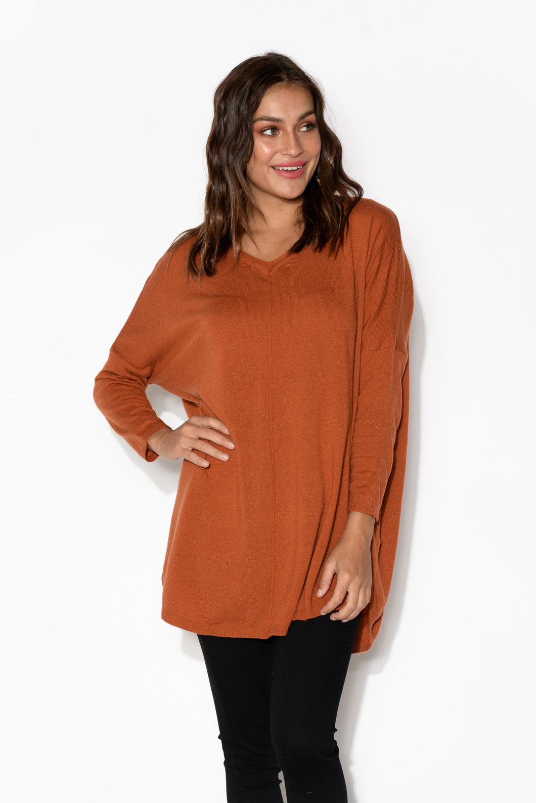 Stromae Rust Knit Jumper