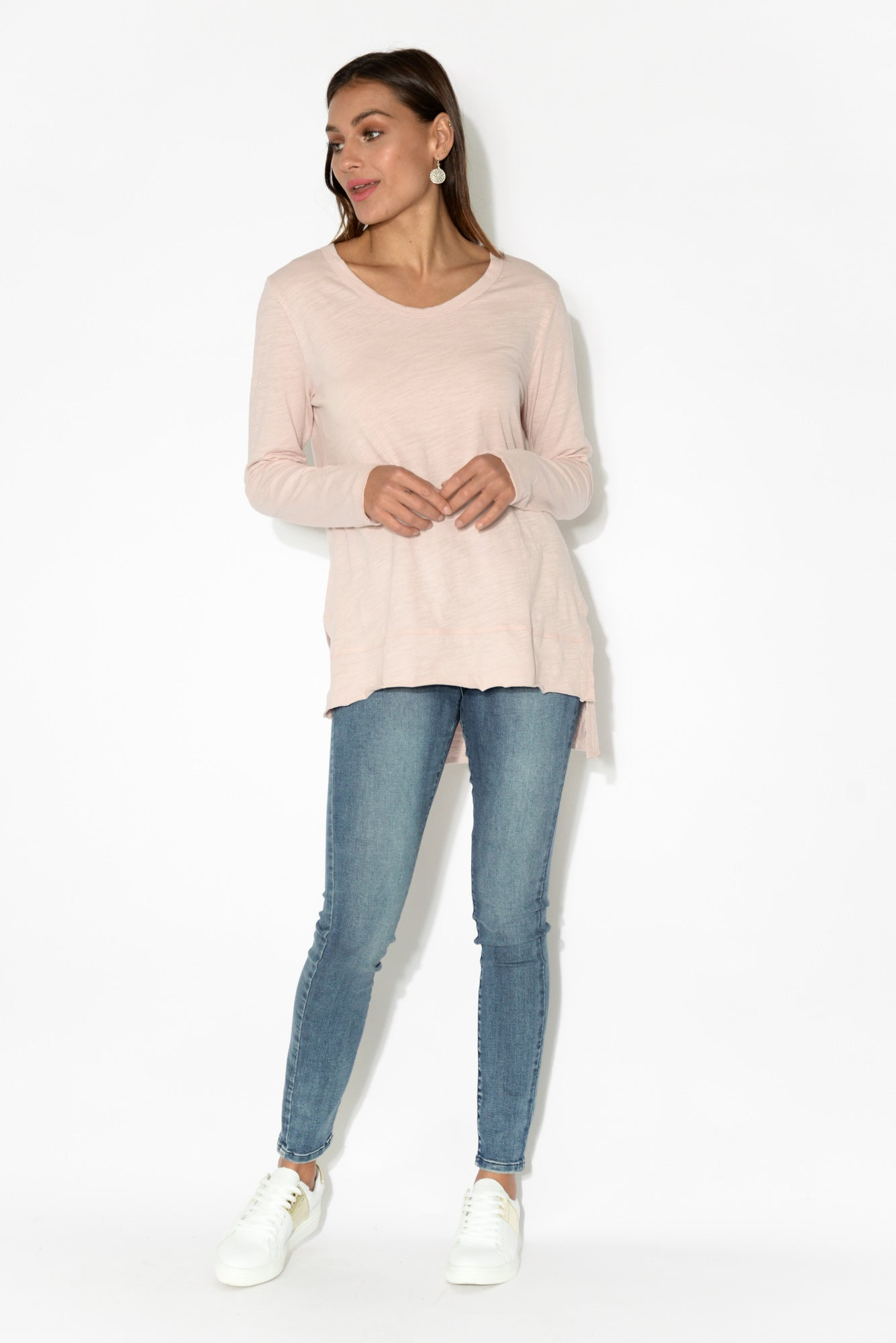 Strumpet Pink Cotton Long Sleeve Top