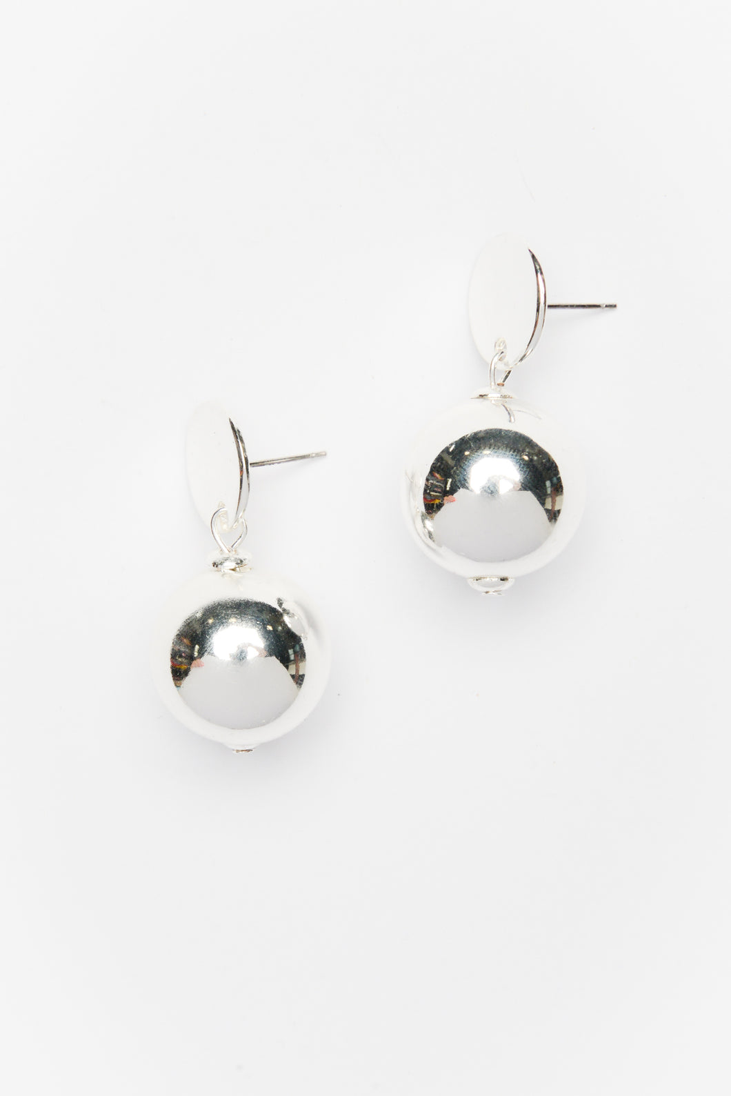 Celine Silver Ball Drop Earring - Blue Bungalow