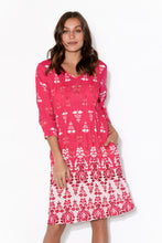 Tamara Pink Crinkle Cotton Dress