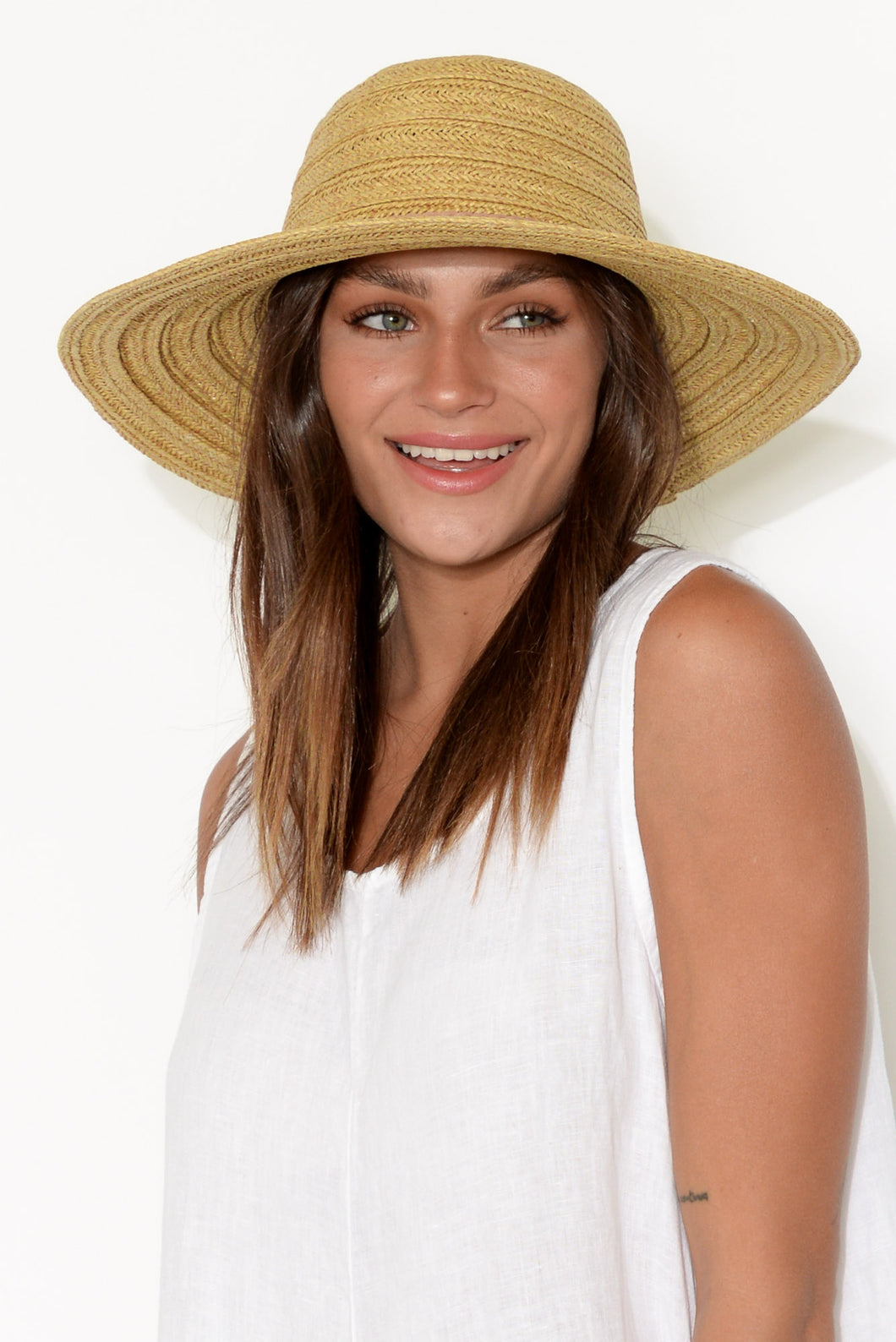 Tess Natural Wide Brim Hat