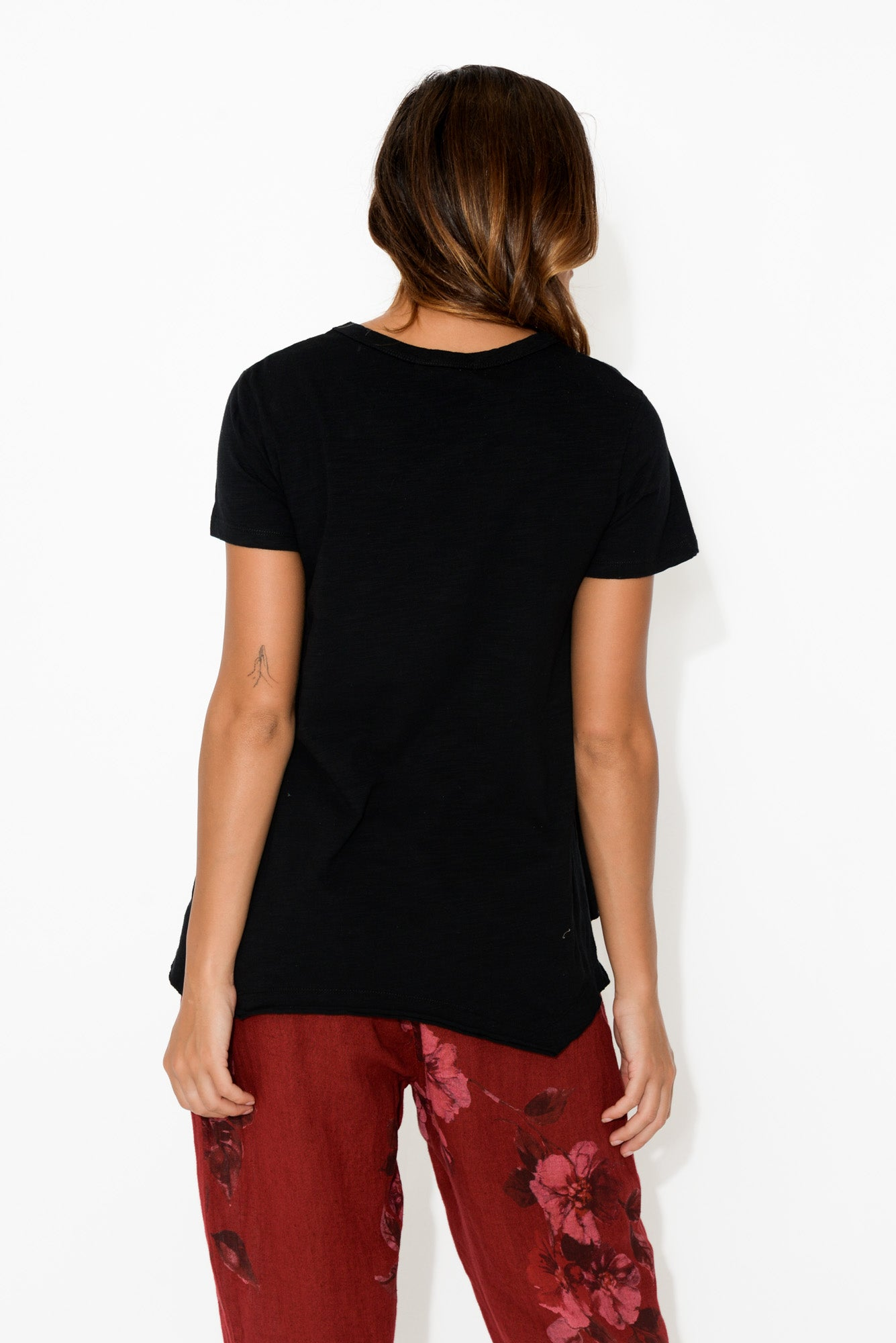 Thornton Black Cotton Tee